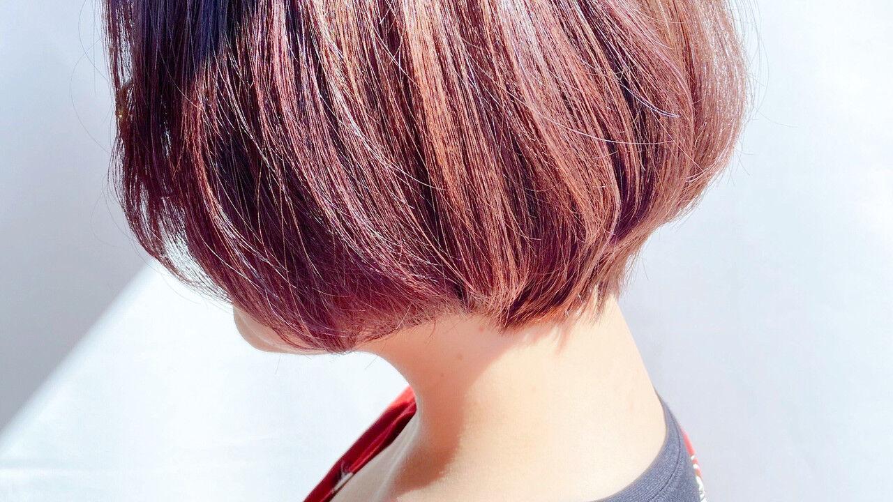 ショートボブ ショートヘア ミニボブ ボブヘアスタイルや髪型の写真・画像