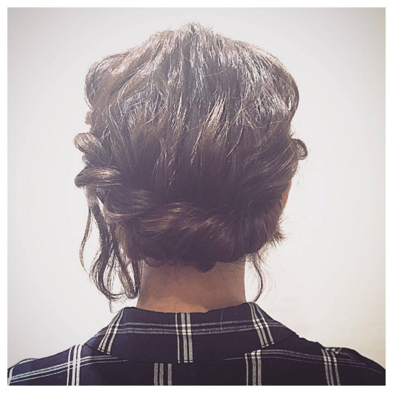 ヘアアレンジ ゆるふわ フェミニン ナチュラルヘアスタイルや髪型の写真・画像