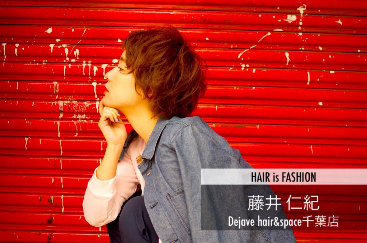 春 ショート ストリート パンクヘアスタイルや髪型の写真・画像