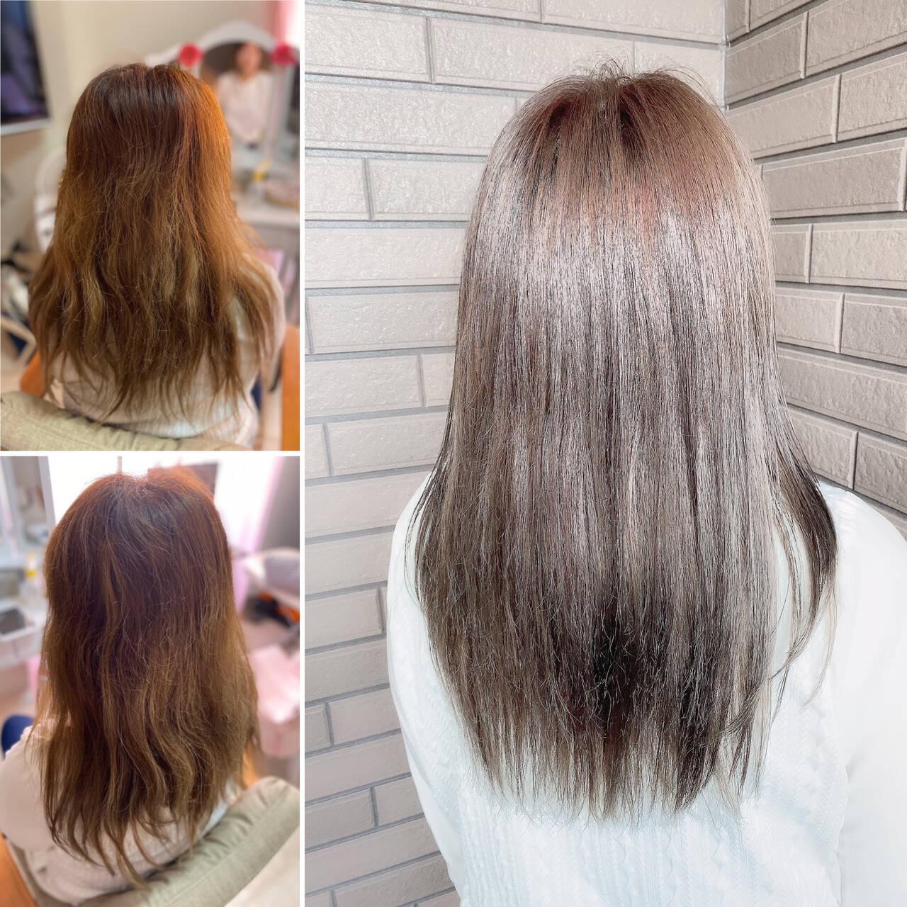 最新トリートメント 髪質改善カラー 髪質改善 エレガントヘアスタイルや髪型の写真・画像
