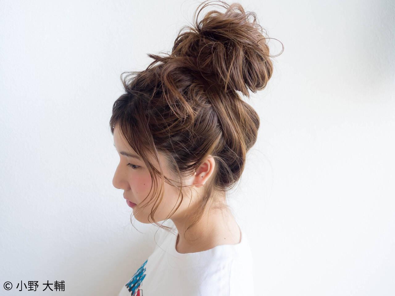 お団子 ヘアアレンジ 色気 夏ヘアスタイルや髪型の写真・画像