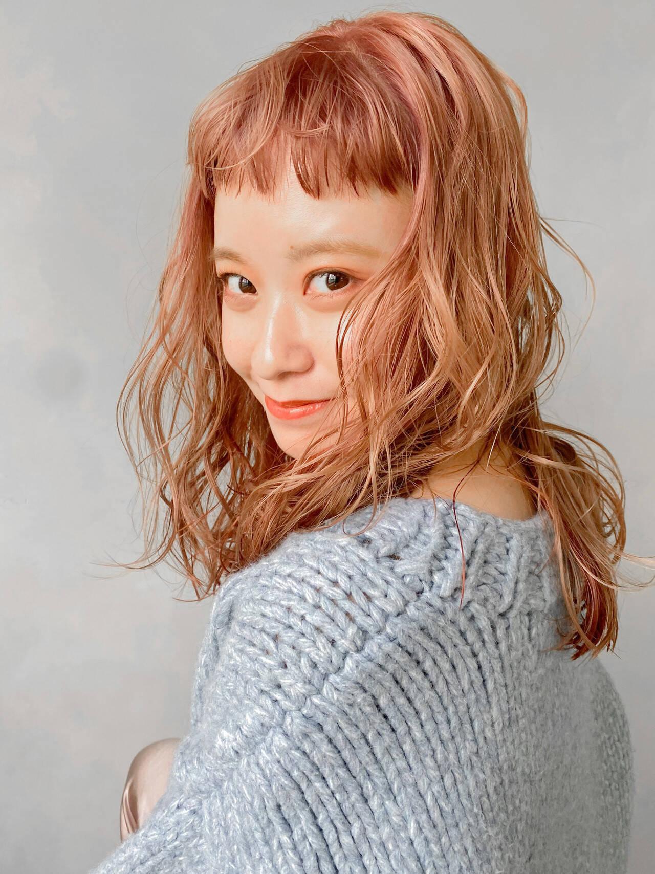 アウトドア ウルフカット ヘアアレンジ アンニュイほつれヘアヘアスタイルや髪型の写真・画像