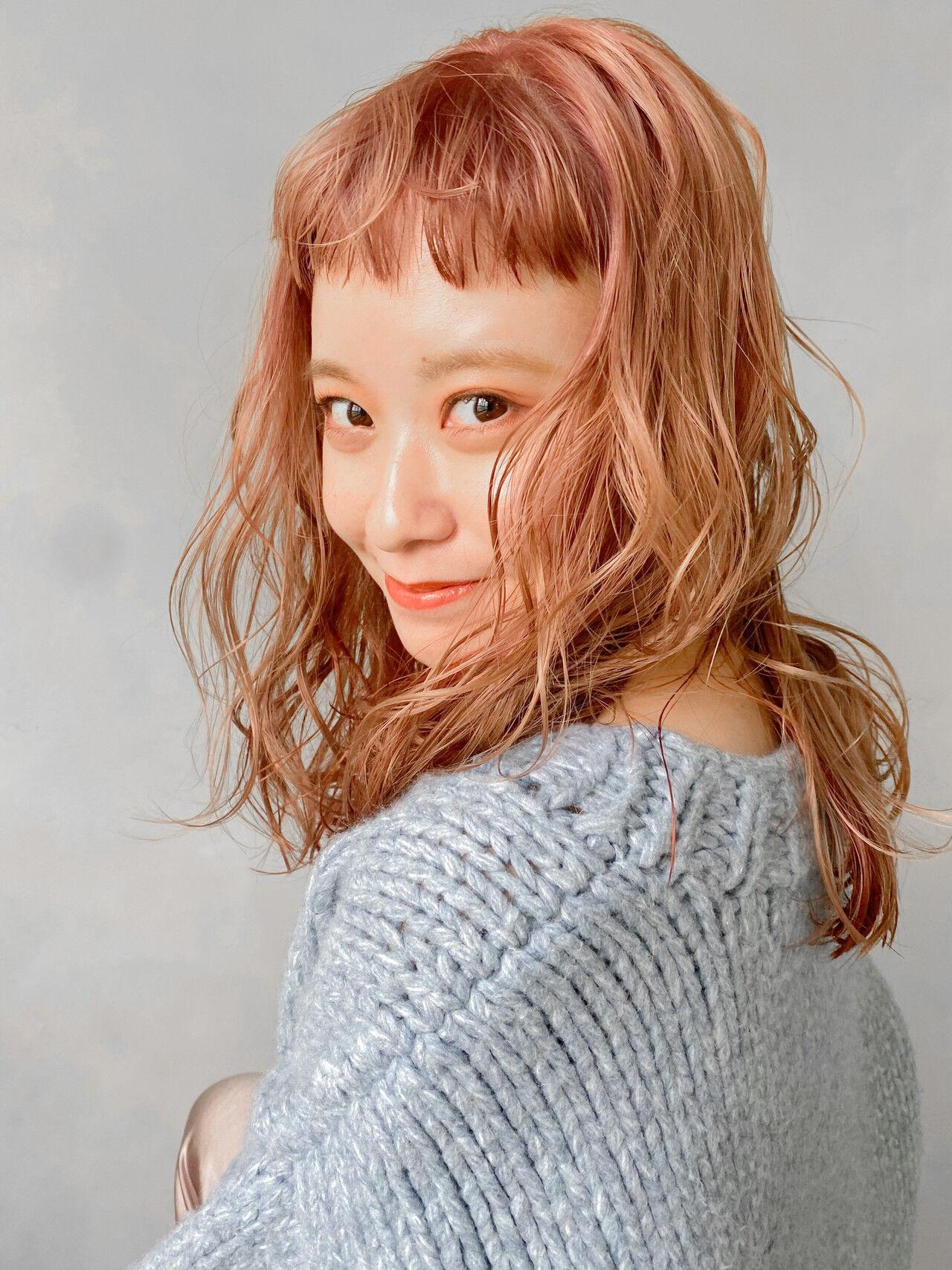 アウトドア ウルフカット ヘアアレンジ アンニュイほつれヘア ヘアスタイルや髪型の写真・画像