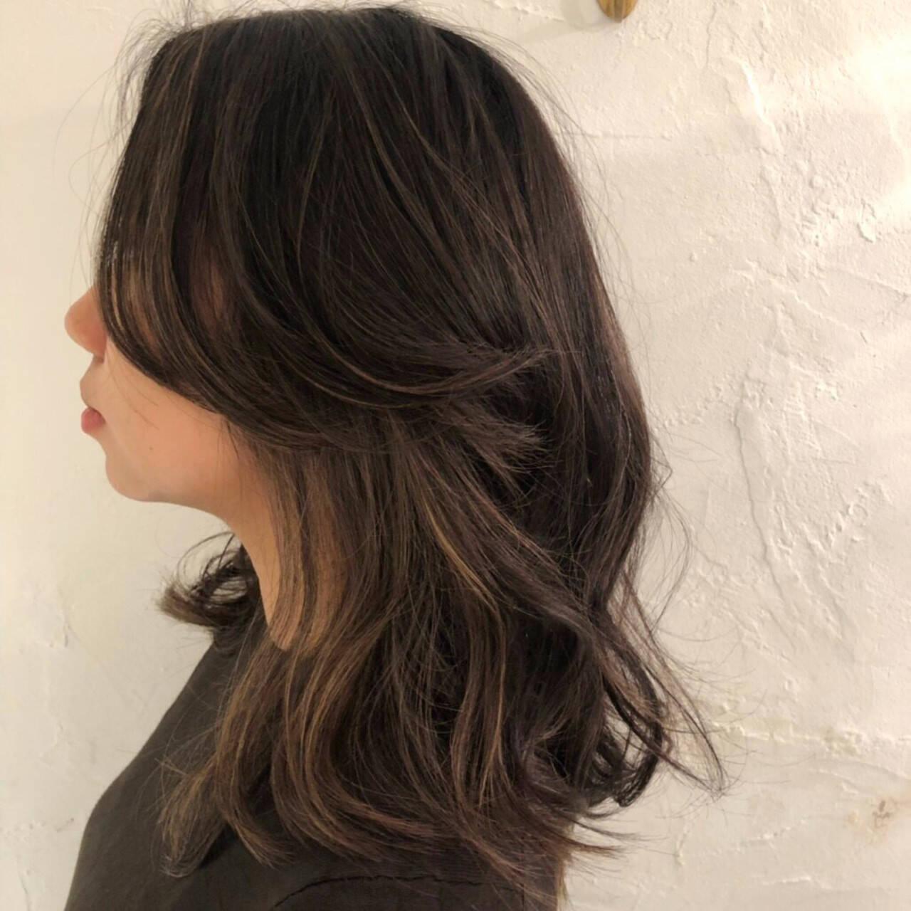 オフィス デート セミロング エレガントヘアスタイルや髪型の写真・画像
