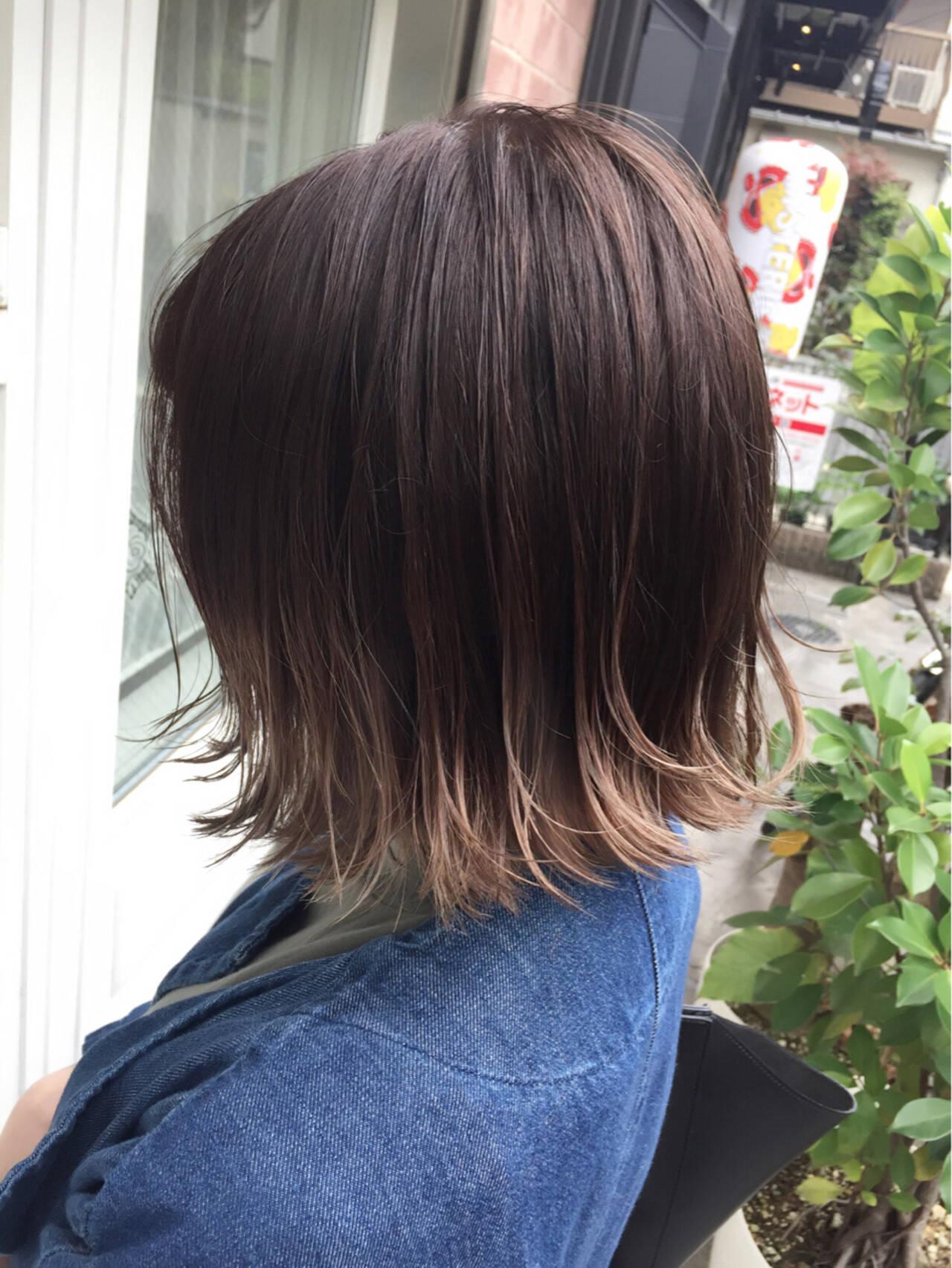 ストリート ボブ 切りっぱなしヘアスタイルや髪型の写真・画像