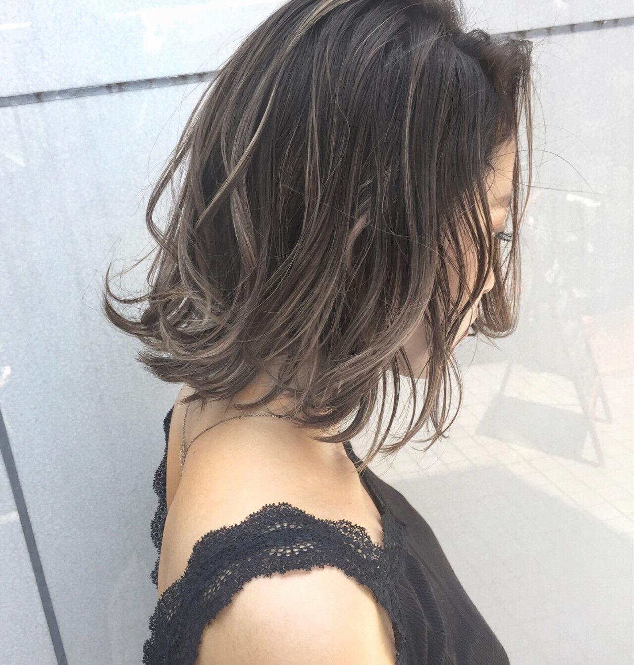 外国人風 パーマ ストリート ハイライトヘアスタイルや髪型の写真・画像