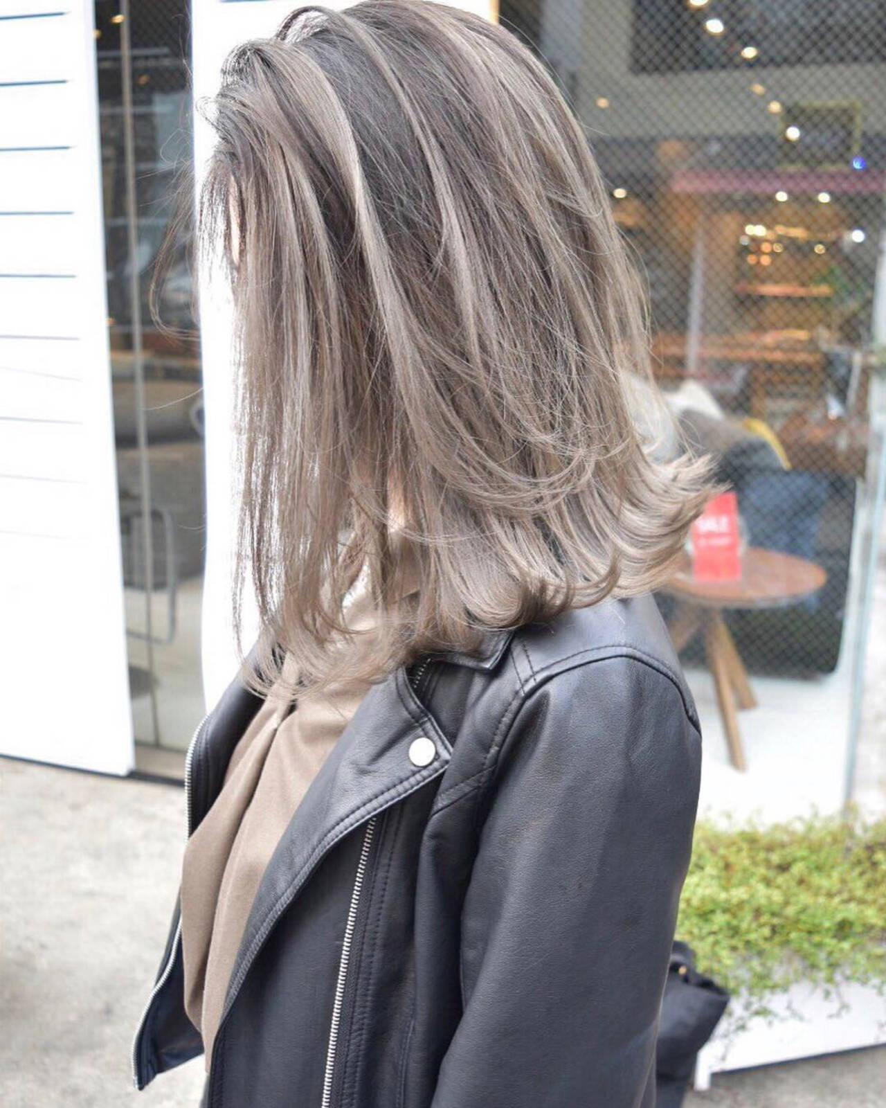 ボブ 外国人風カラー バレイヤージュ ストリートヘアスタイルや髪型の写真・画像