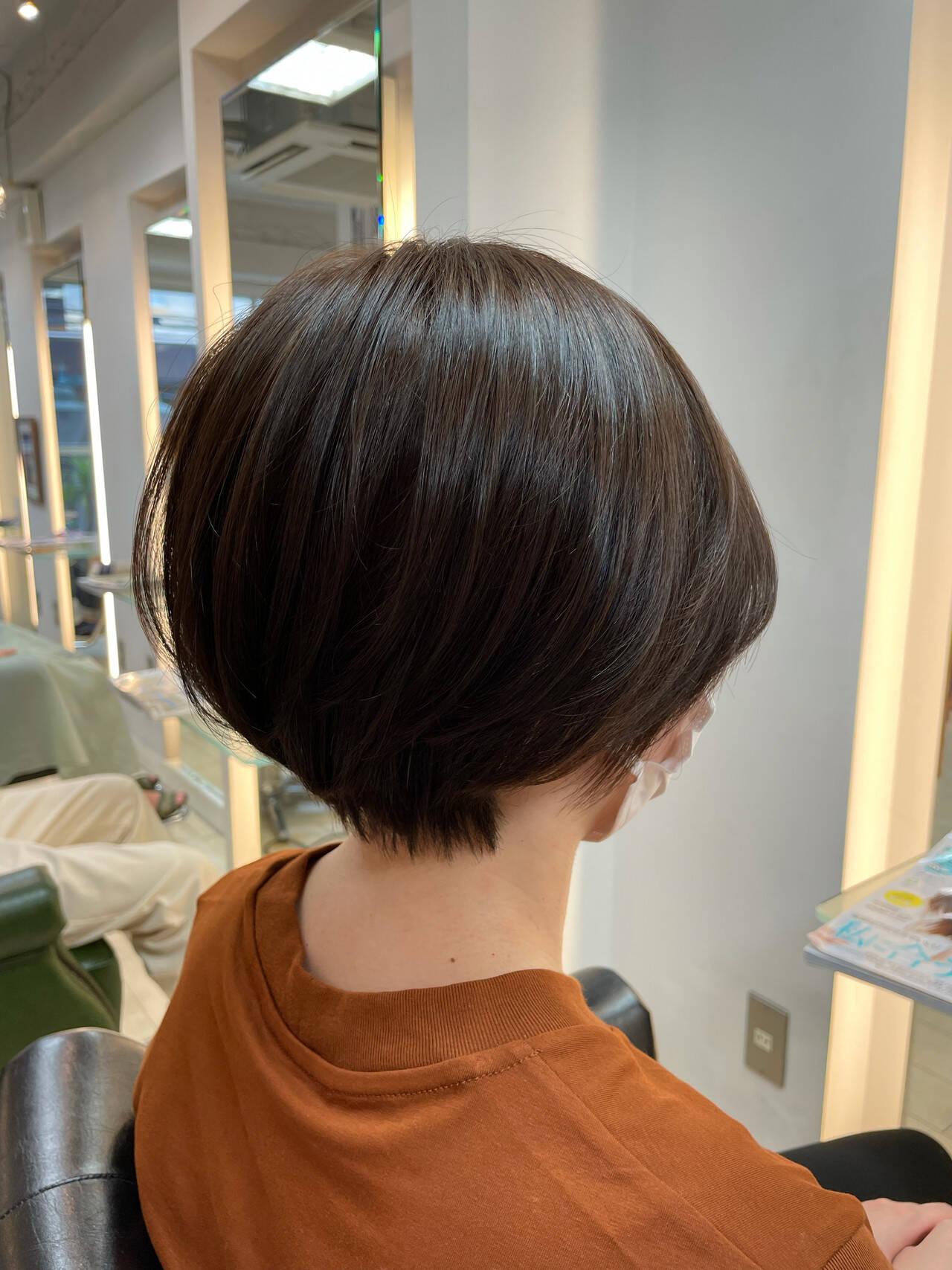 ショート 大人かわいい ショートヘア ショートボブヘアスタイルや髪型の写真・画像