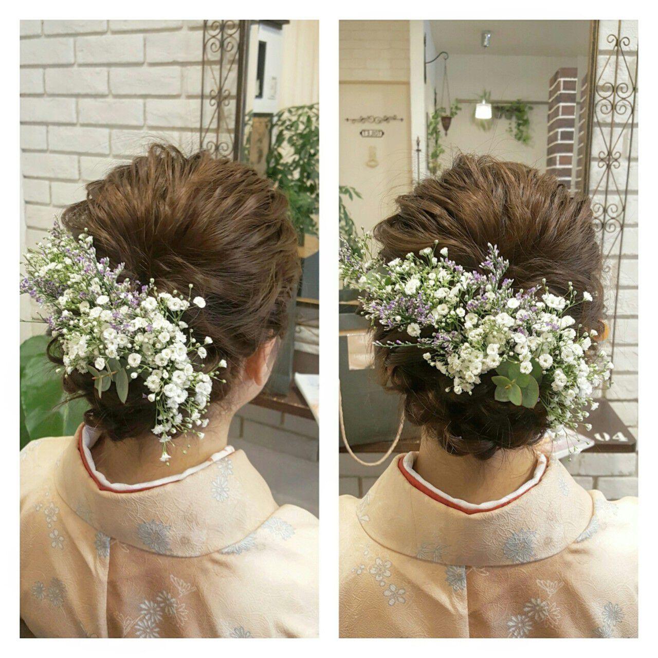 ゆるふわ ナチュラル ハーフアップ ロングヘアスタイルや髪型の写真・画像