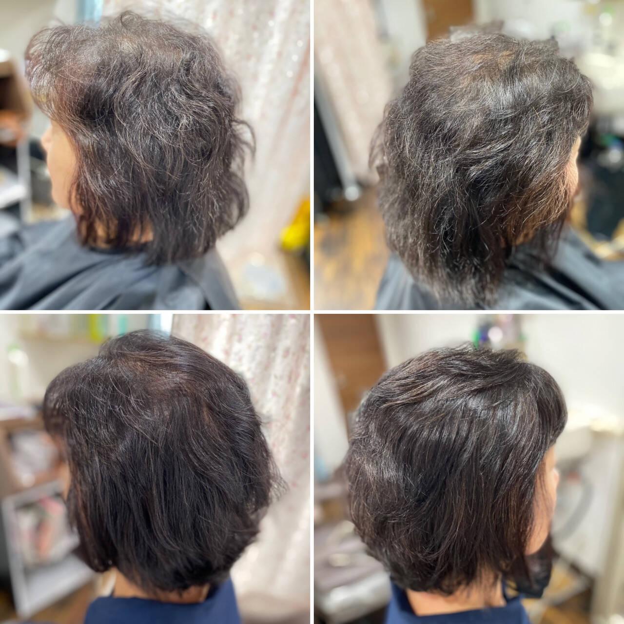 髪質改善カラー ショートボブ ナチュラル 髪質改善ヘアスタイルや髪型の写真・画像