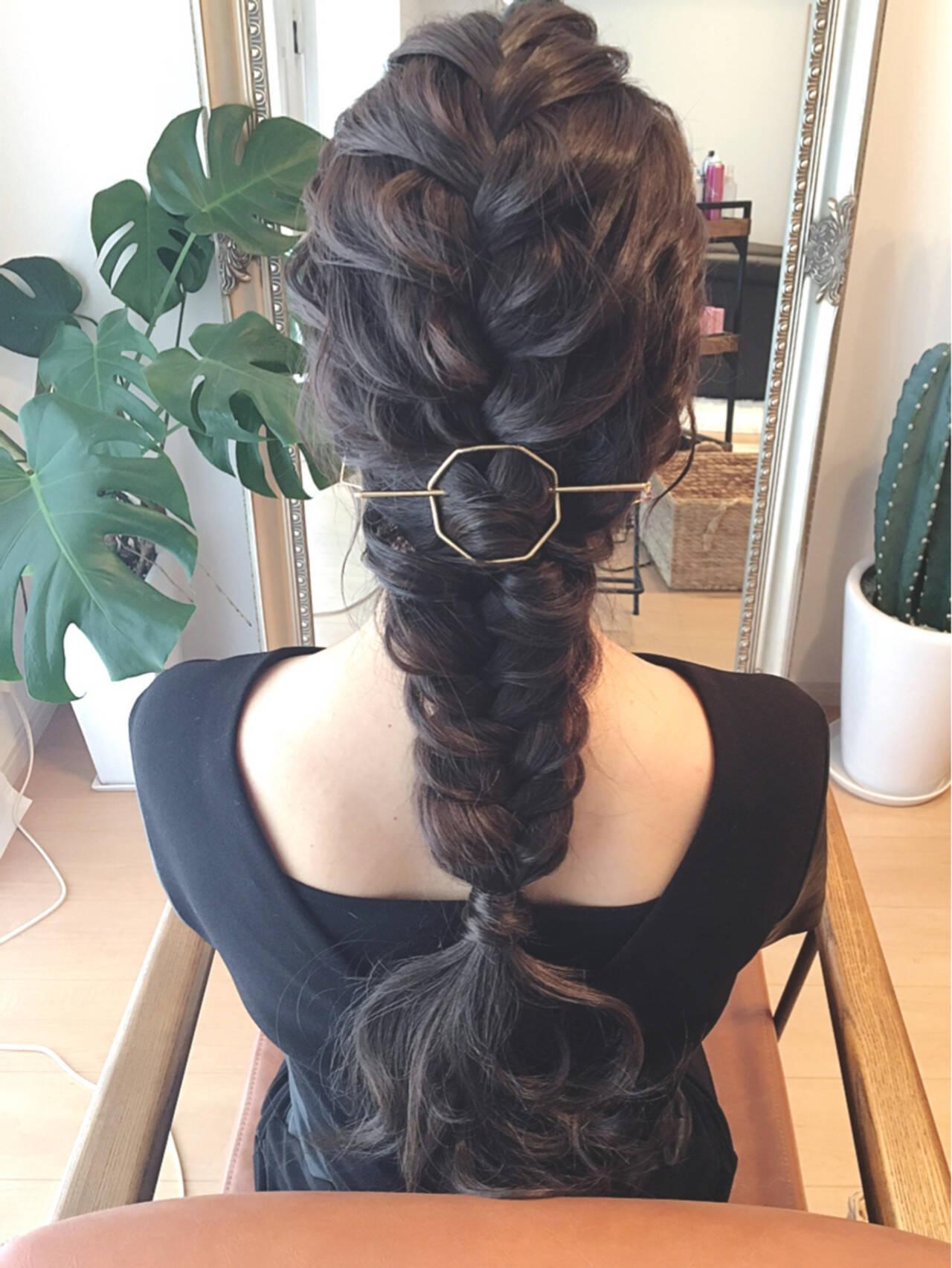 結婚式 ゆるふわ ロング ブライダルヘアスタイルや髪型の写真・画像