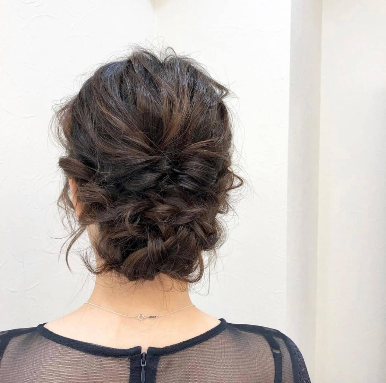 お呼ばれヘア 結婚式 結婚式アレンジ 結婚式ヘアアレンジヘアスタイルや髪型の写真・画像