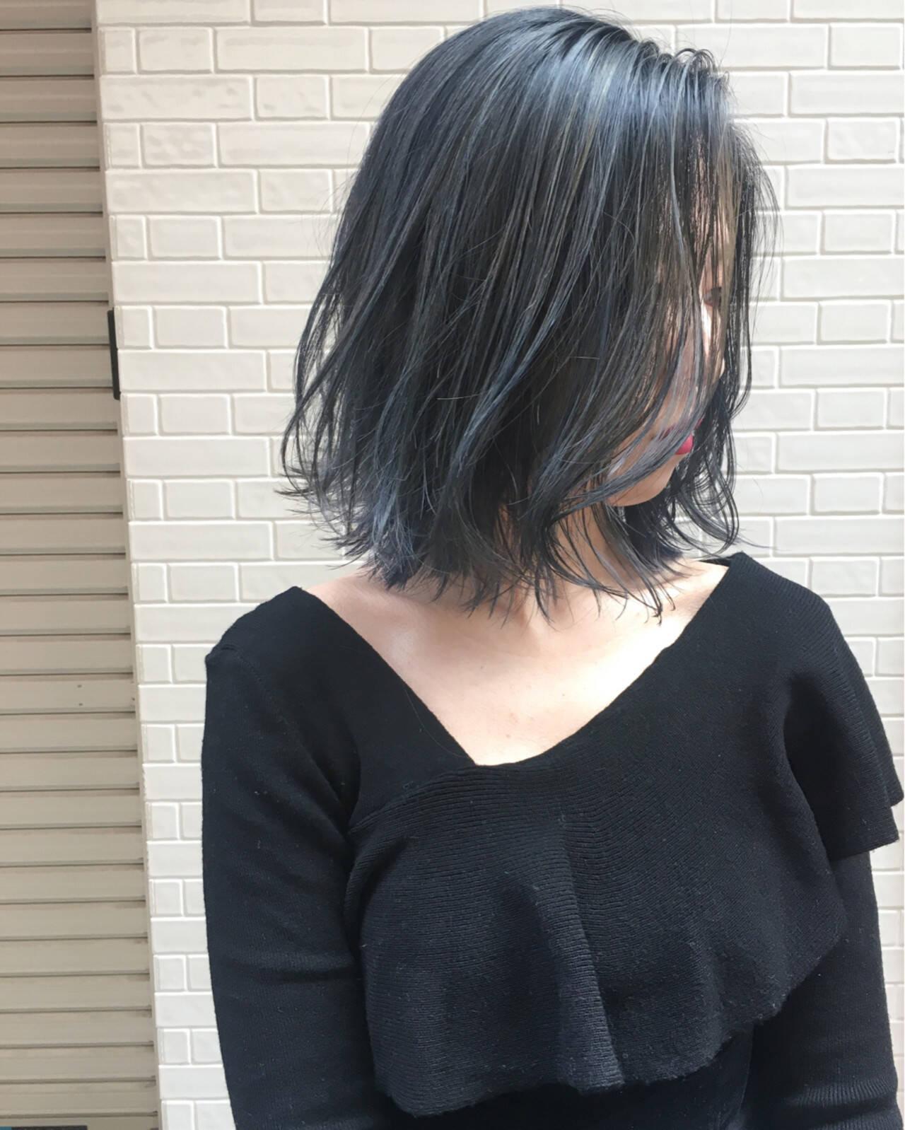 エレガント 謝恩会 ボブ ブリーチヘアスタイルや髪型の写真・画像