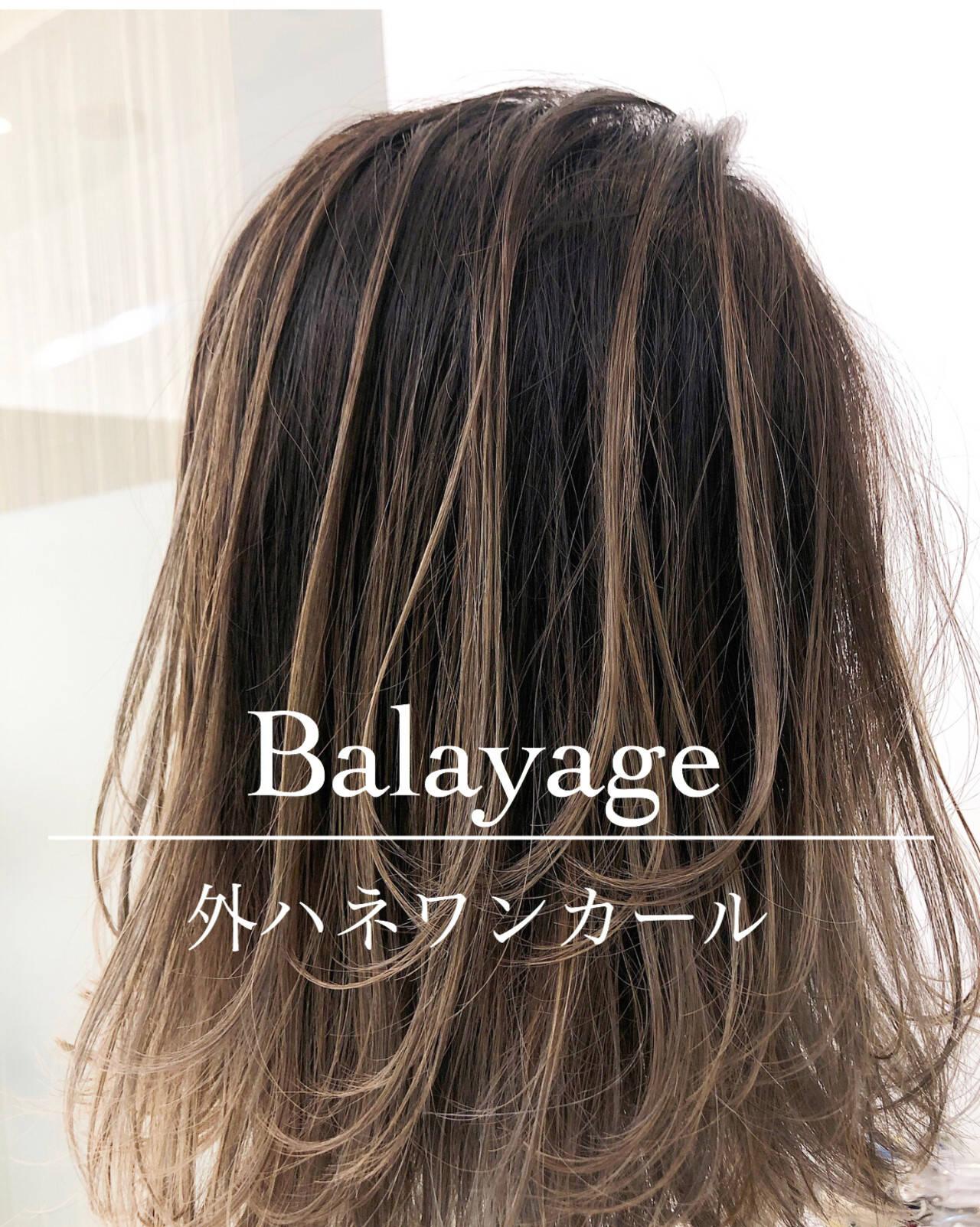 ショート バレイヤージュ 外国人風カラー グラデーションカラーヘアスタイルや髪型の写真・画像