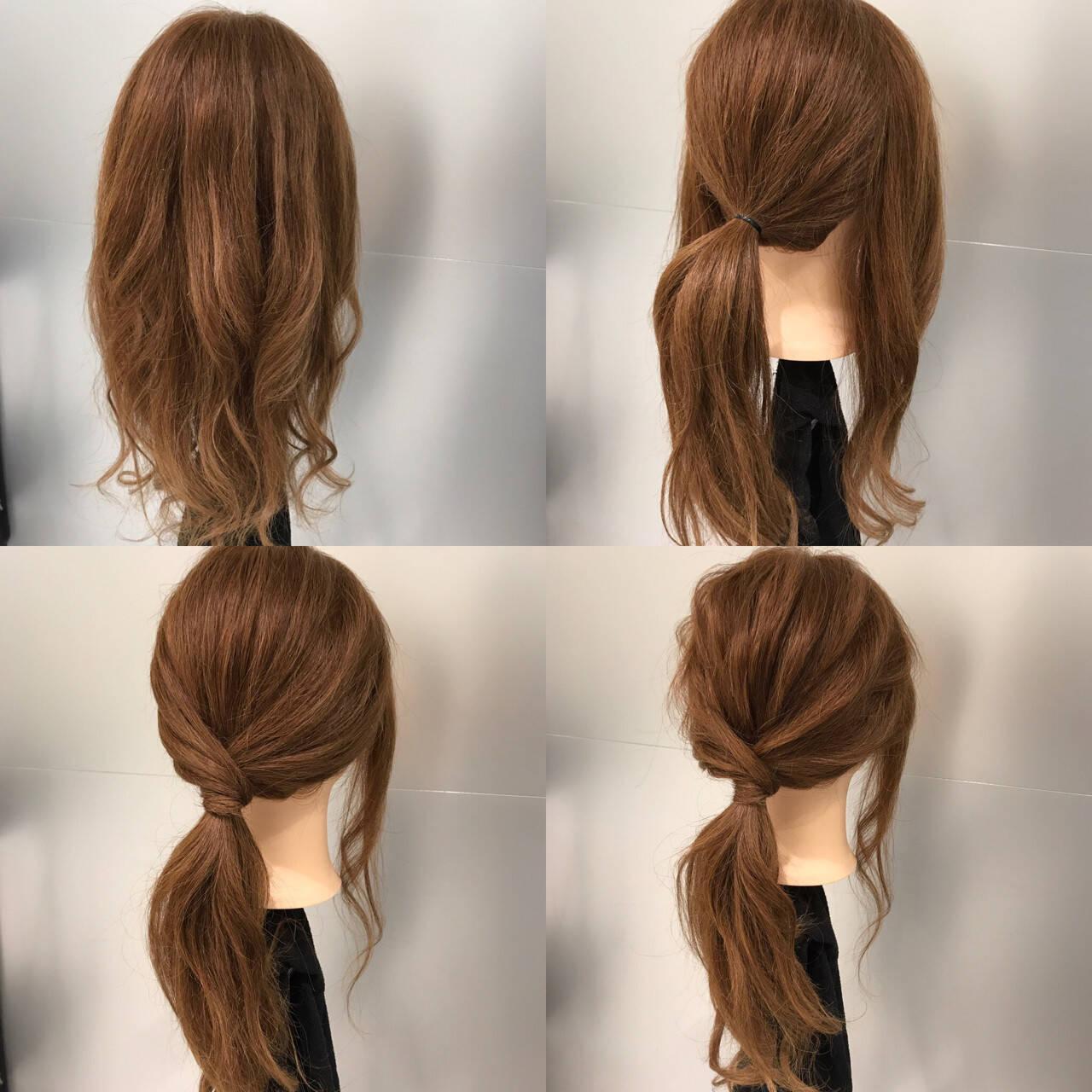 簡単 ロング ポニーテール ヘアアレンジヘアスタイルや髪型の写真・画像