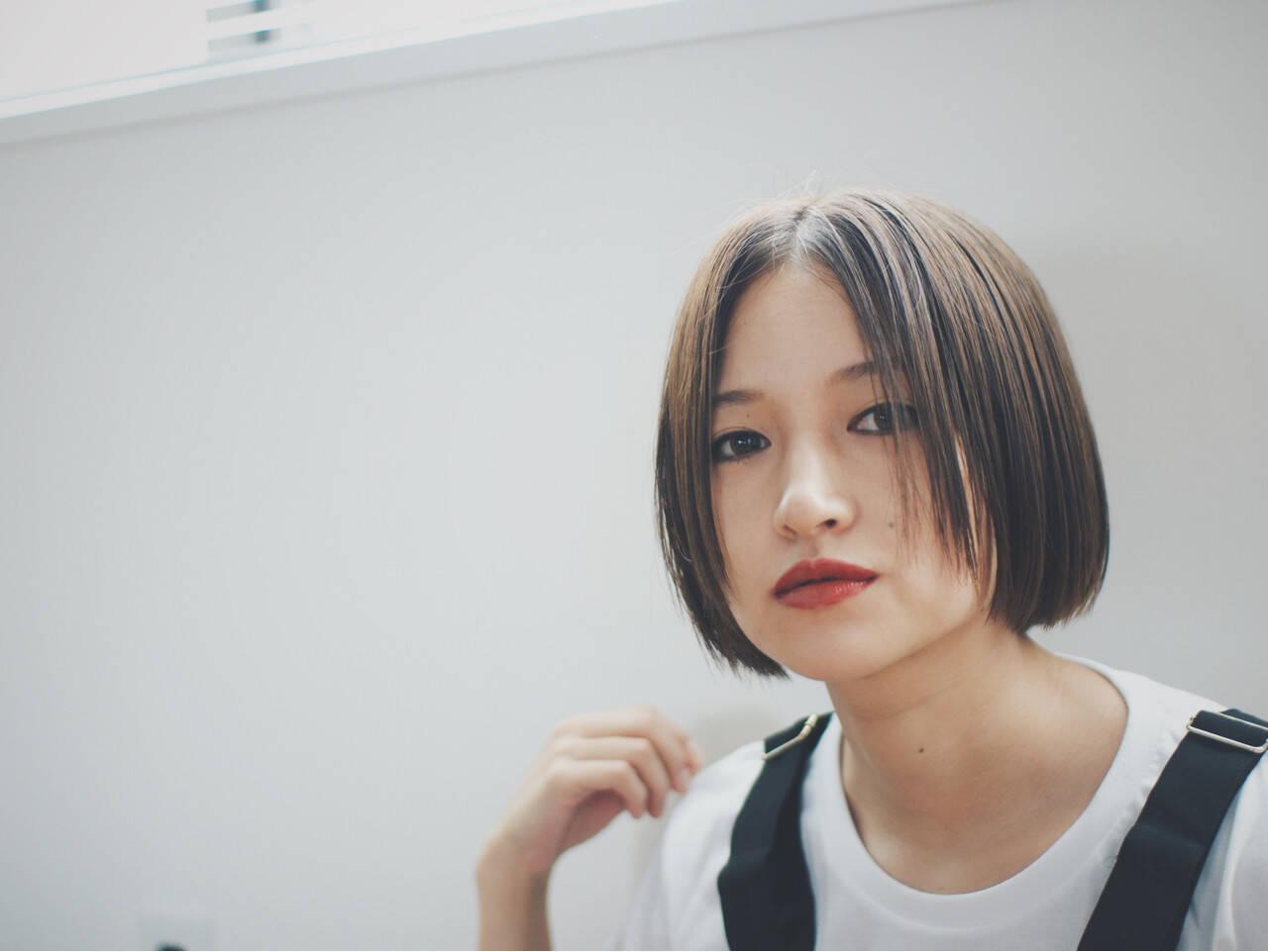 外国人風 ナチュラル ボブ 色気ヘアスタイルや髪型の写真・画像