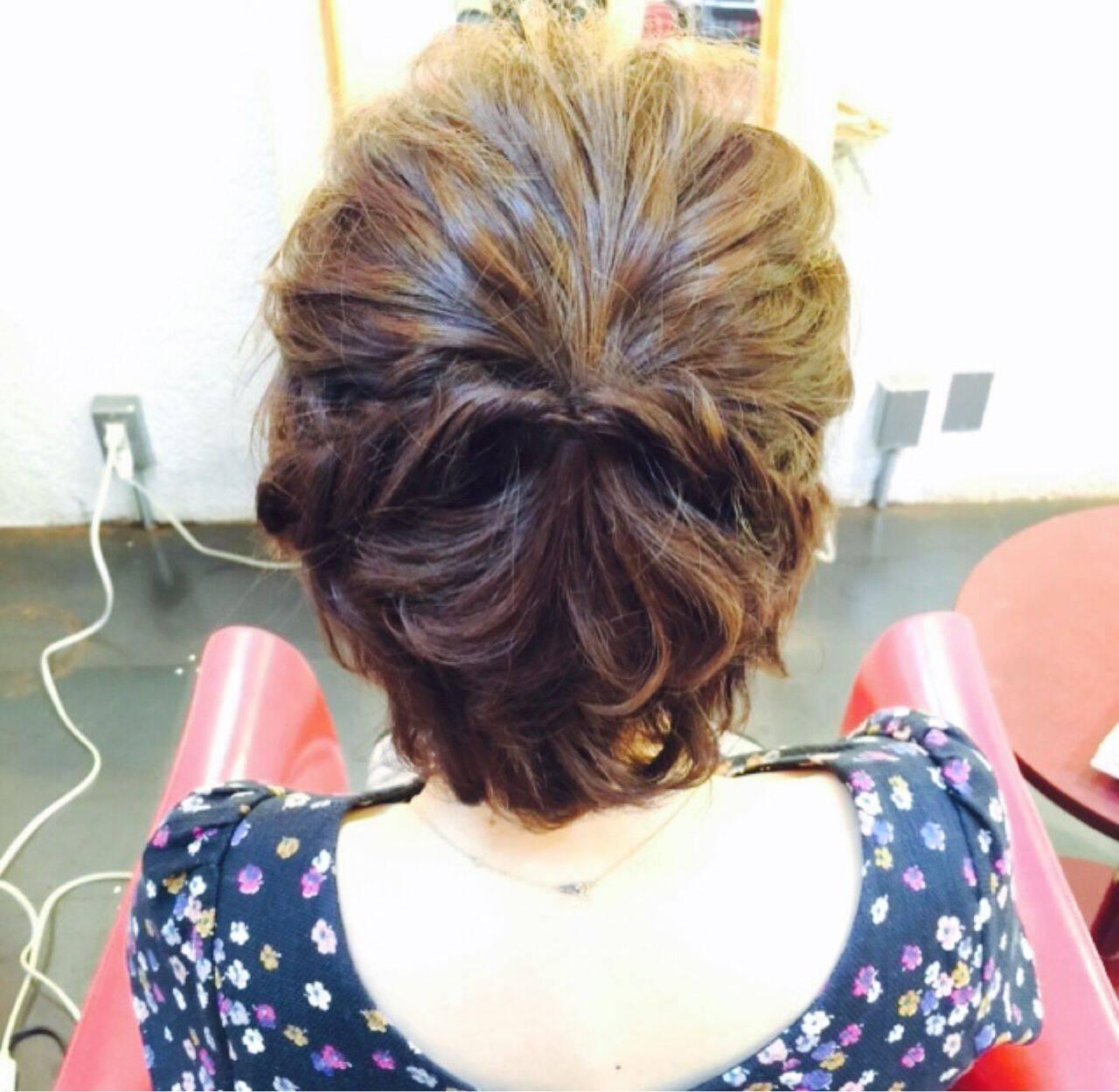 夏 ヘアアレンジ 和装 外国人風カラーヘアスタイルや髪型の写真・画像