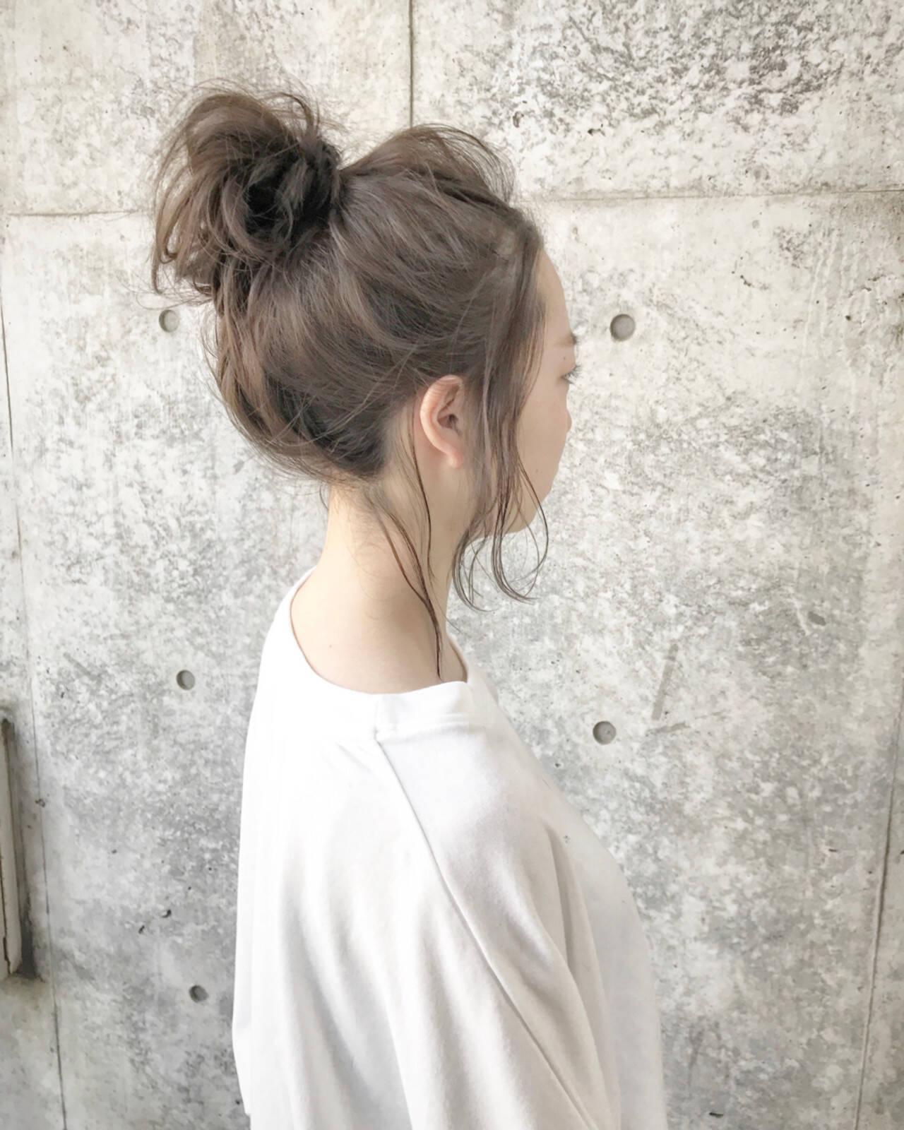 ナチュラル こなれ感 透明感 メッシーバンヘアスタイルや髪型の写真・画像