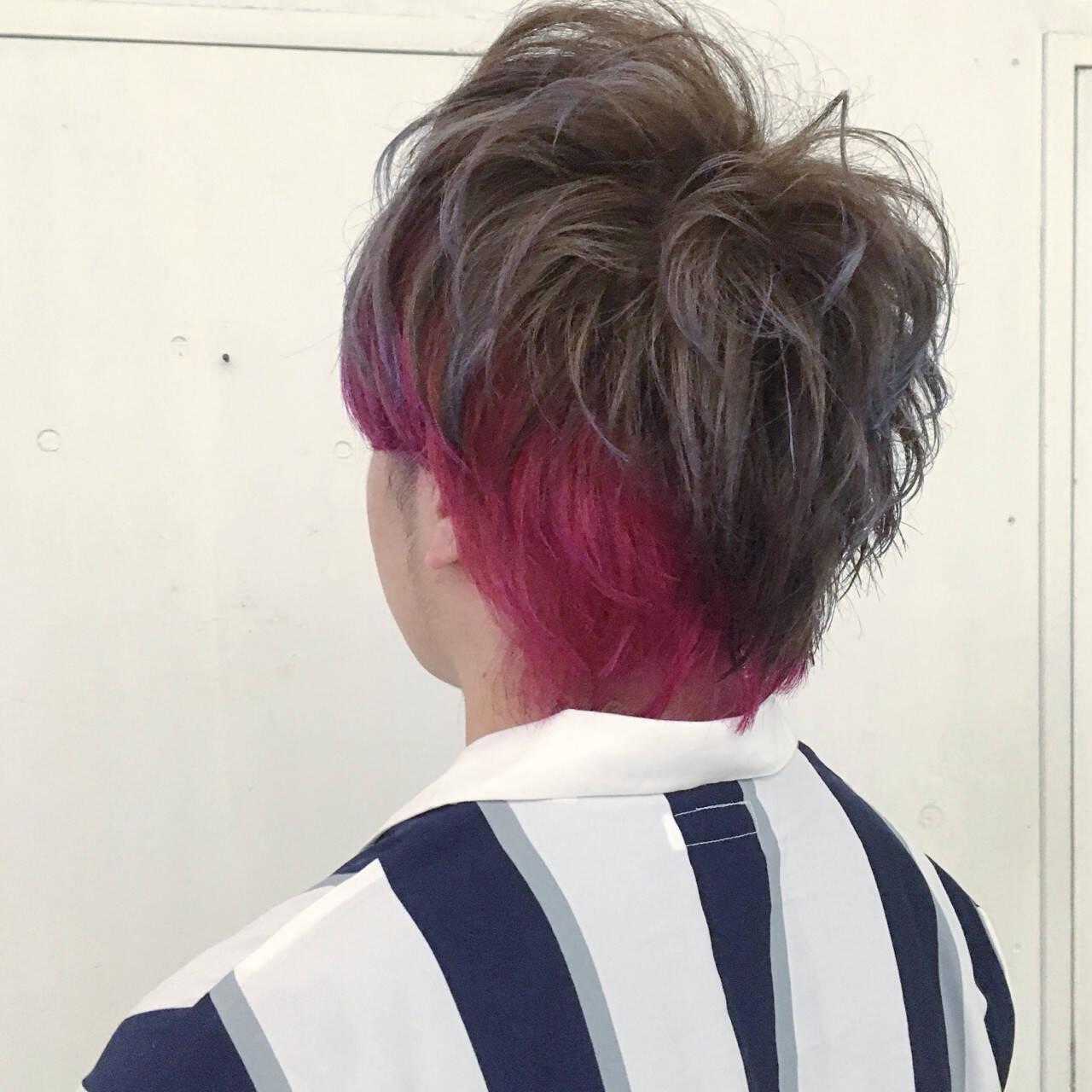 ストリート モテ髪 ボーイッシュ ラベンダーヘアスタイルや髪型の写真・画像