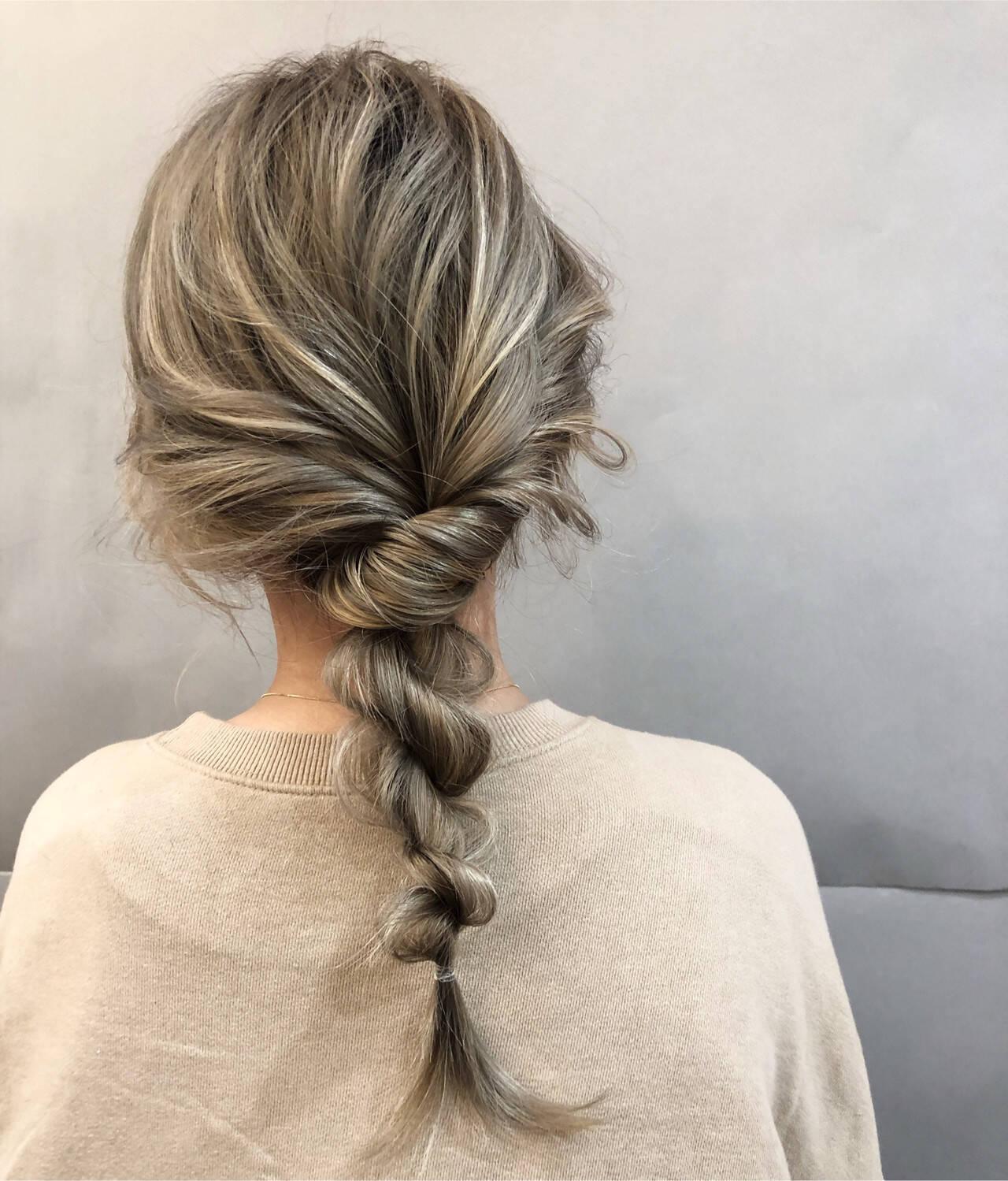 デート ヘアアレンジ フェミニン スポーツヘアスタイルや髪型の写真・画像