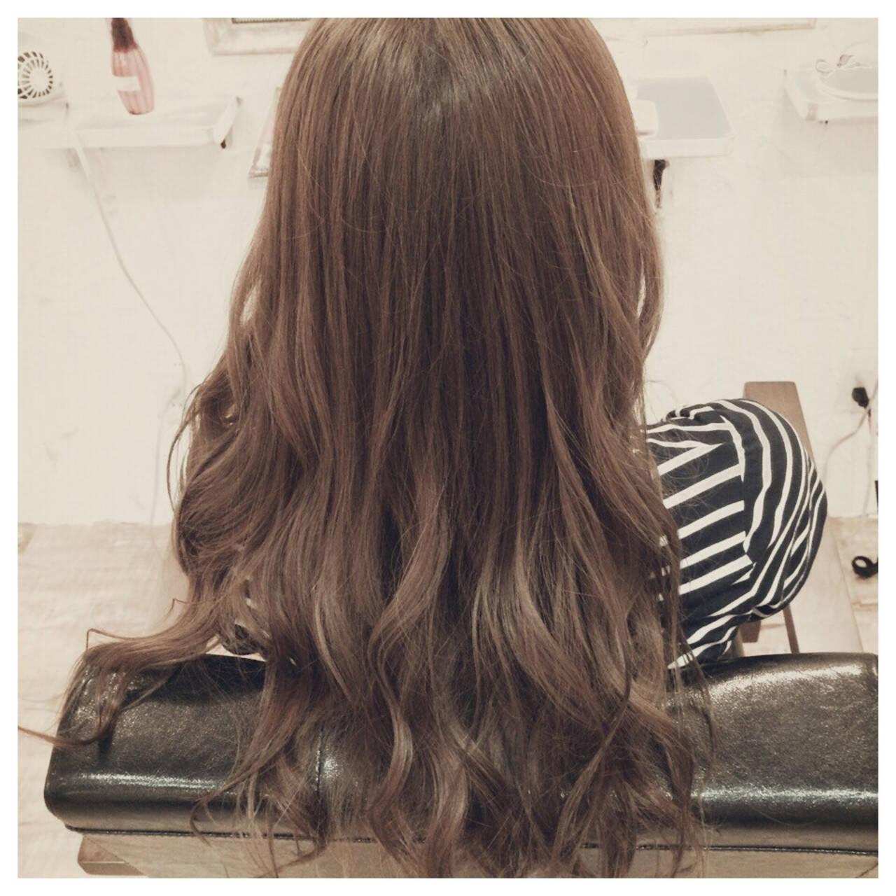 外国人風 ナチュラル ゆるふわ ロングヘアスタイルや髪型の写真・画像