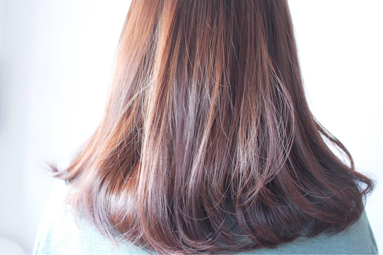 ラベンダー ナチュラル ラベンダーピンク グレージュヘアスタイルや髪型の写真・画像