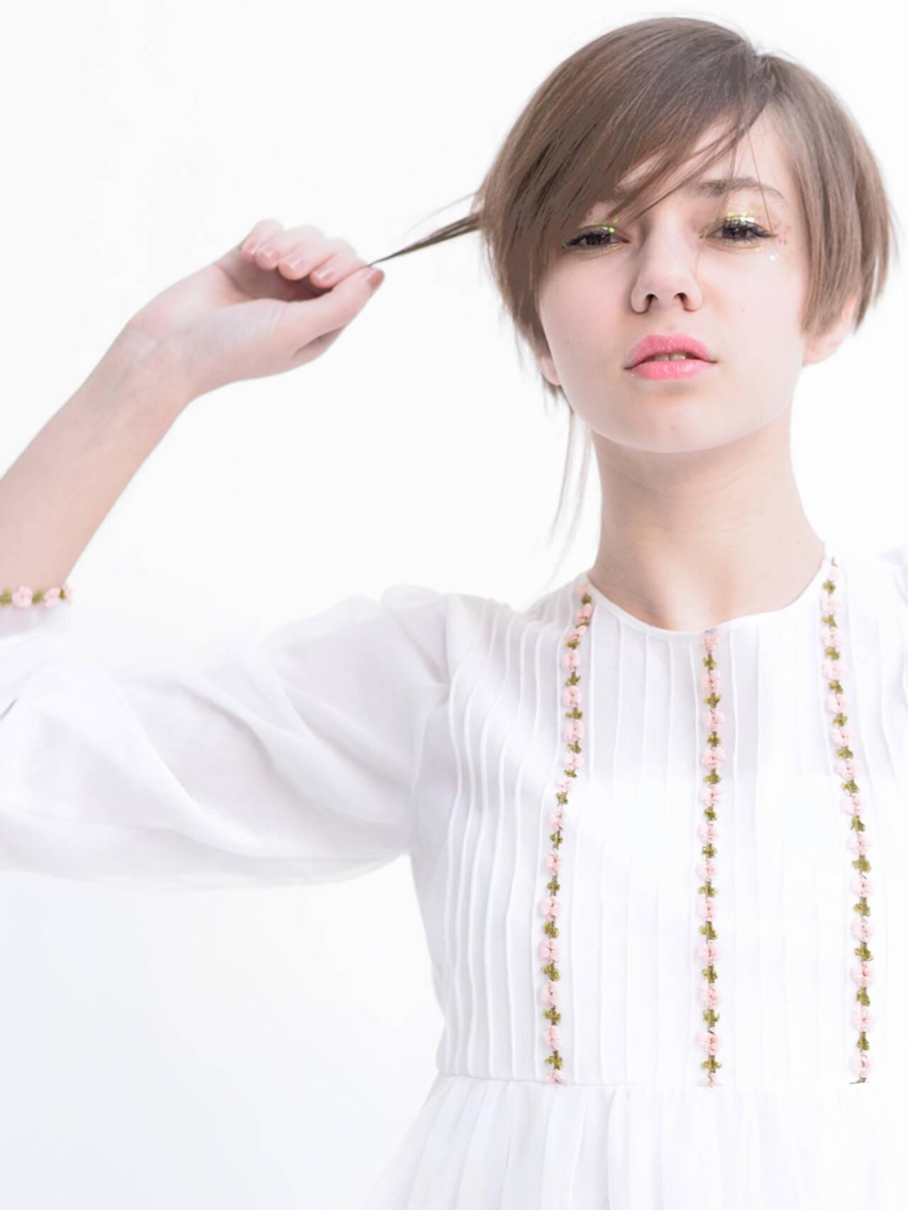 ショート ショートボブ 大人かわいい ナチュラルヘアスタイルや髪型の写真・画像