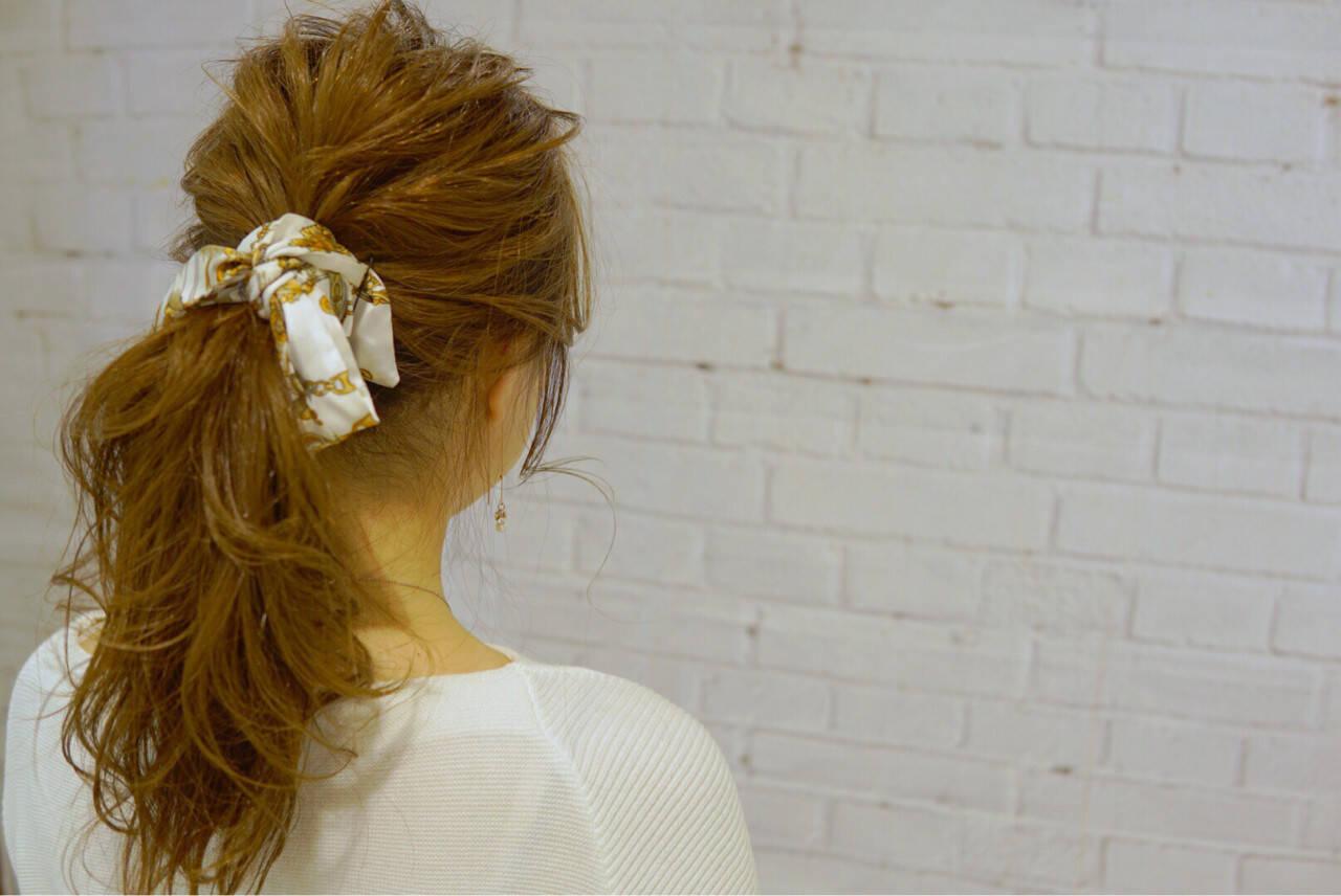 ショート ポニーテール ヘアアクセ ヘアアレンジヘアスタイルや髪型の写真・画像