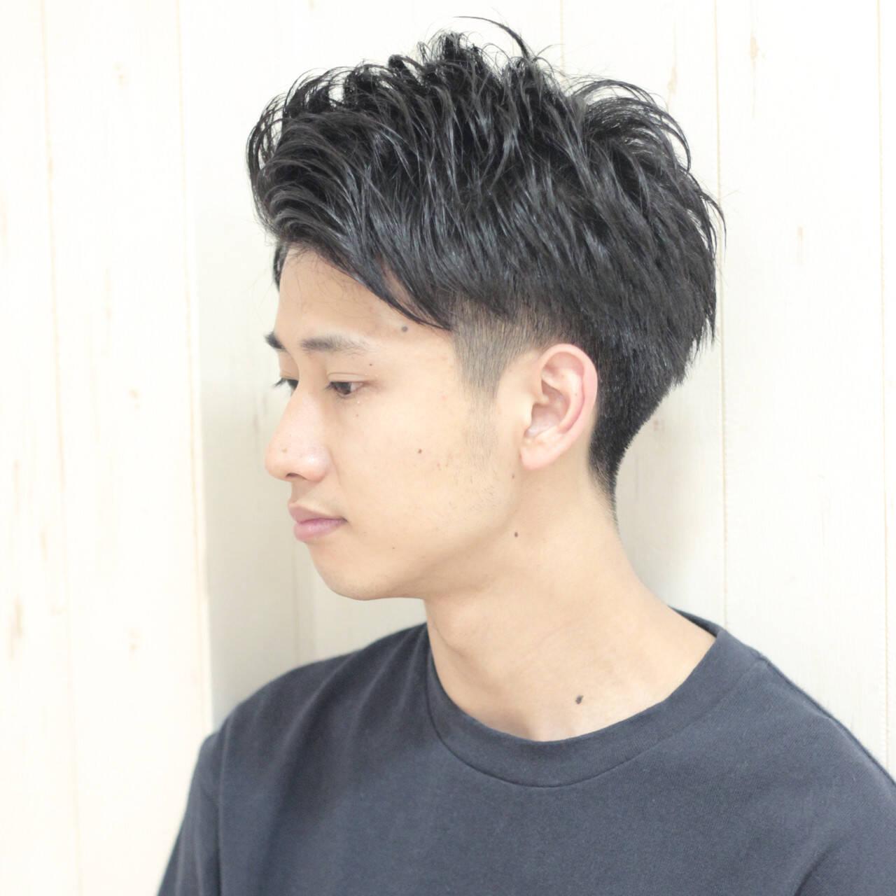 黒髪 刈り上げ メンズ ボーイッシュヘアスタイルや髪型の写真・画像