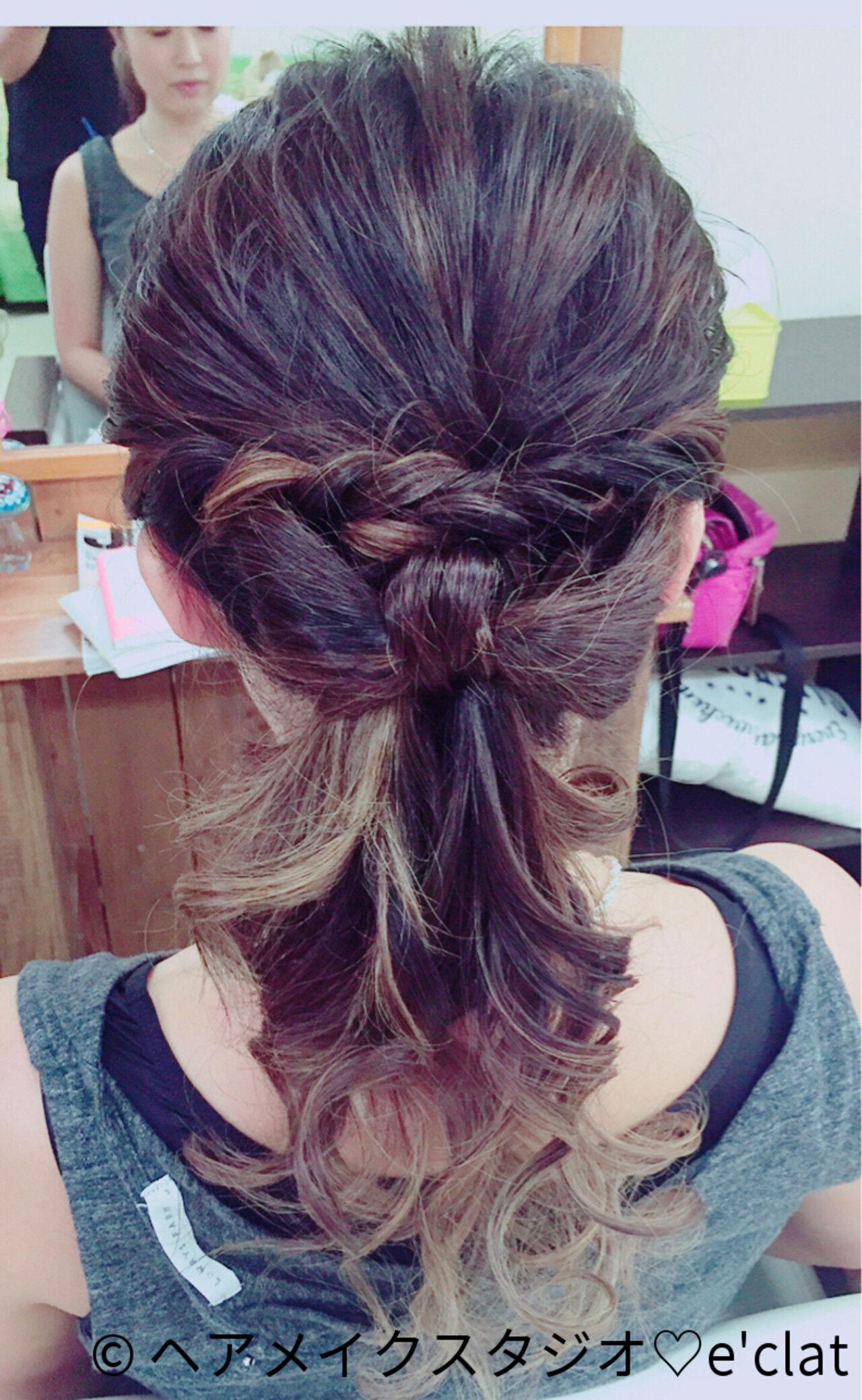 ポニーテール ヘアアレンジ ロング 結婚式ヘアスタイルや髪型の写真・画像