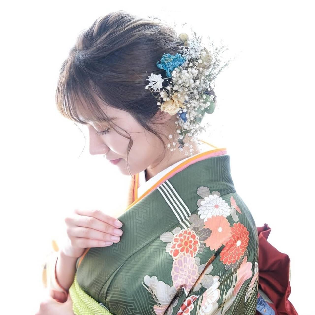 ミディアム 編み込みヘア ヘアアレンジ ナチュラルヘアスタイルや髪型の写真・画像