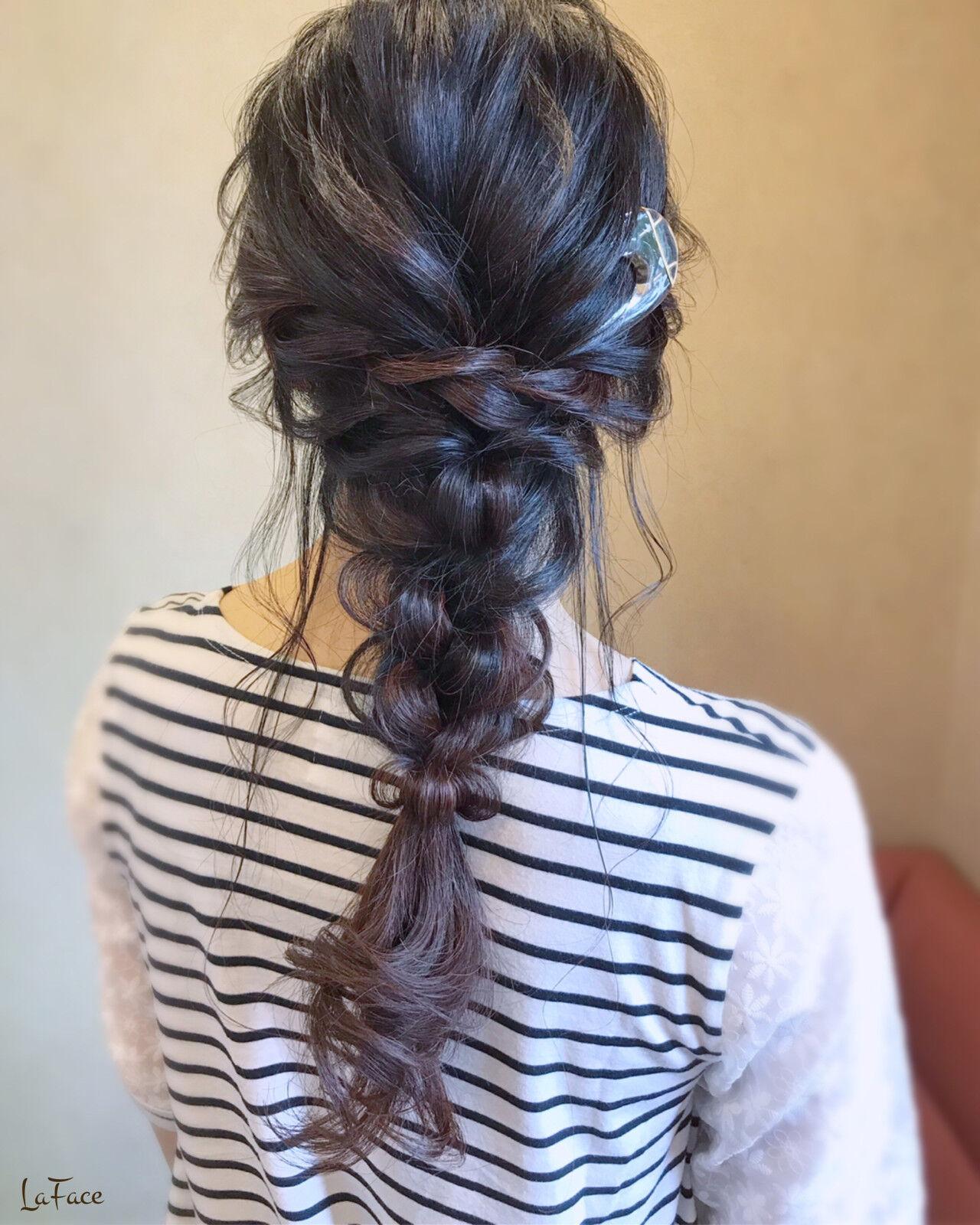 大人女子 ヘアアレンジ ロング エレガントヘアスタイルや髪型の写真・画像