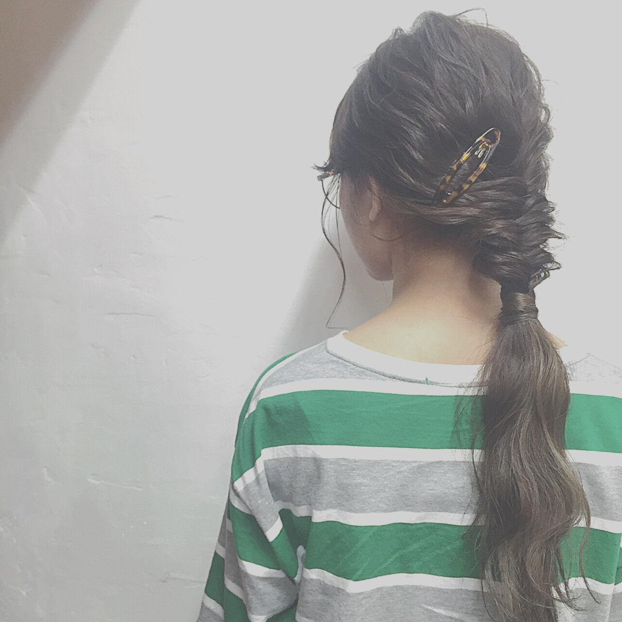 ヘアアレンジ 暗髪 外国人風 簡単ヘアアレンジヘアスタイルや髪型の写真・画像