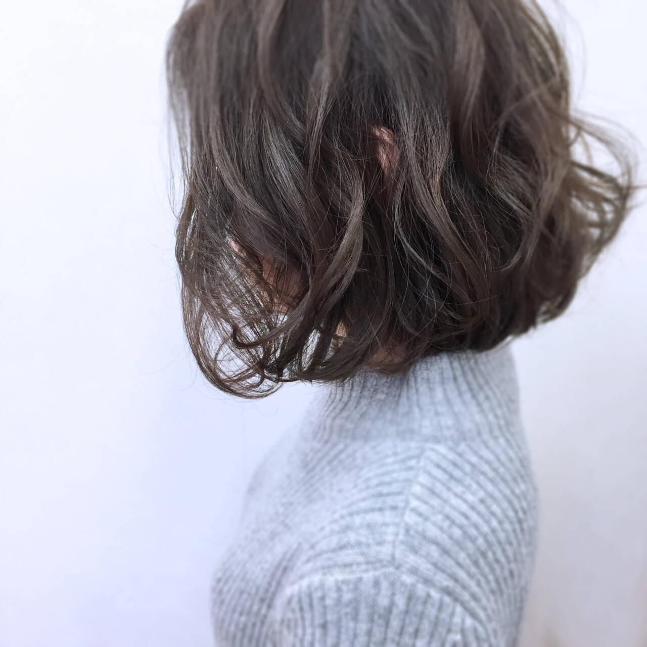 外国人風 ゆるふわ ニュアンス パーマヘアスタイルや髪型の写真・画像