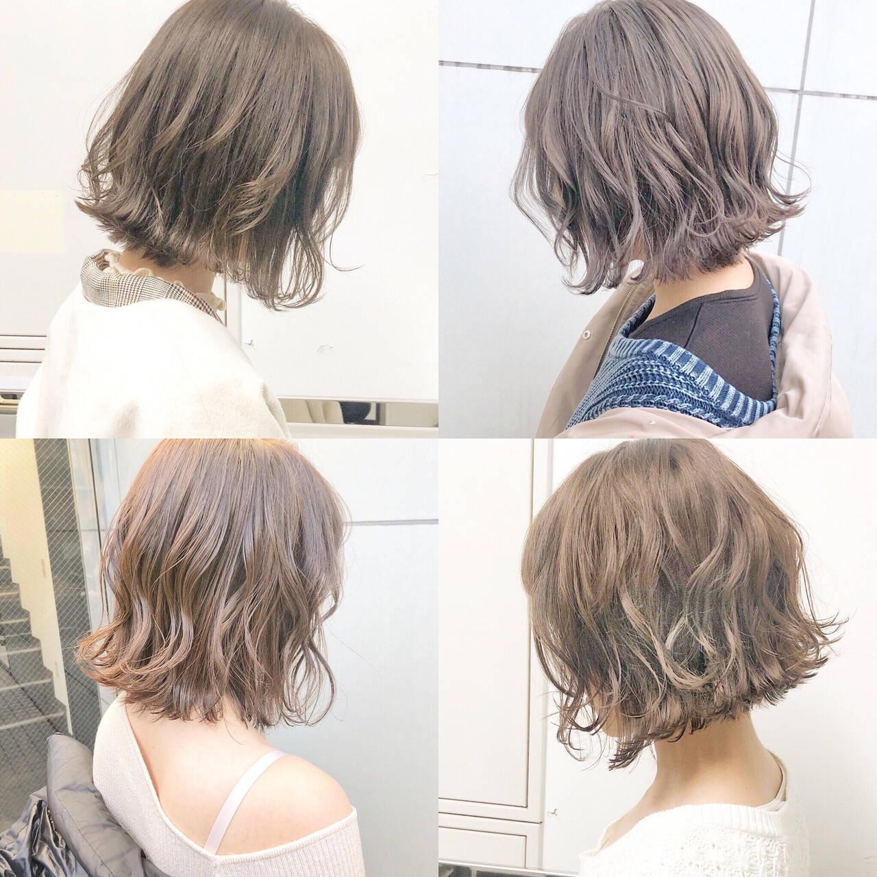パーマ 簡単ヘアアレンジ フェミニン デートヘアスタイルや髪型の写真・画像