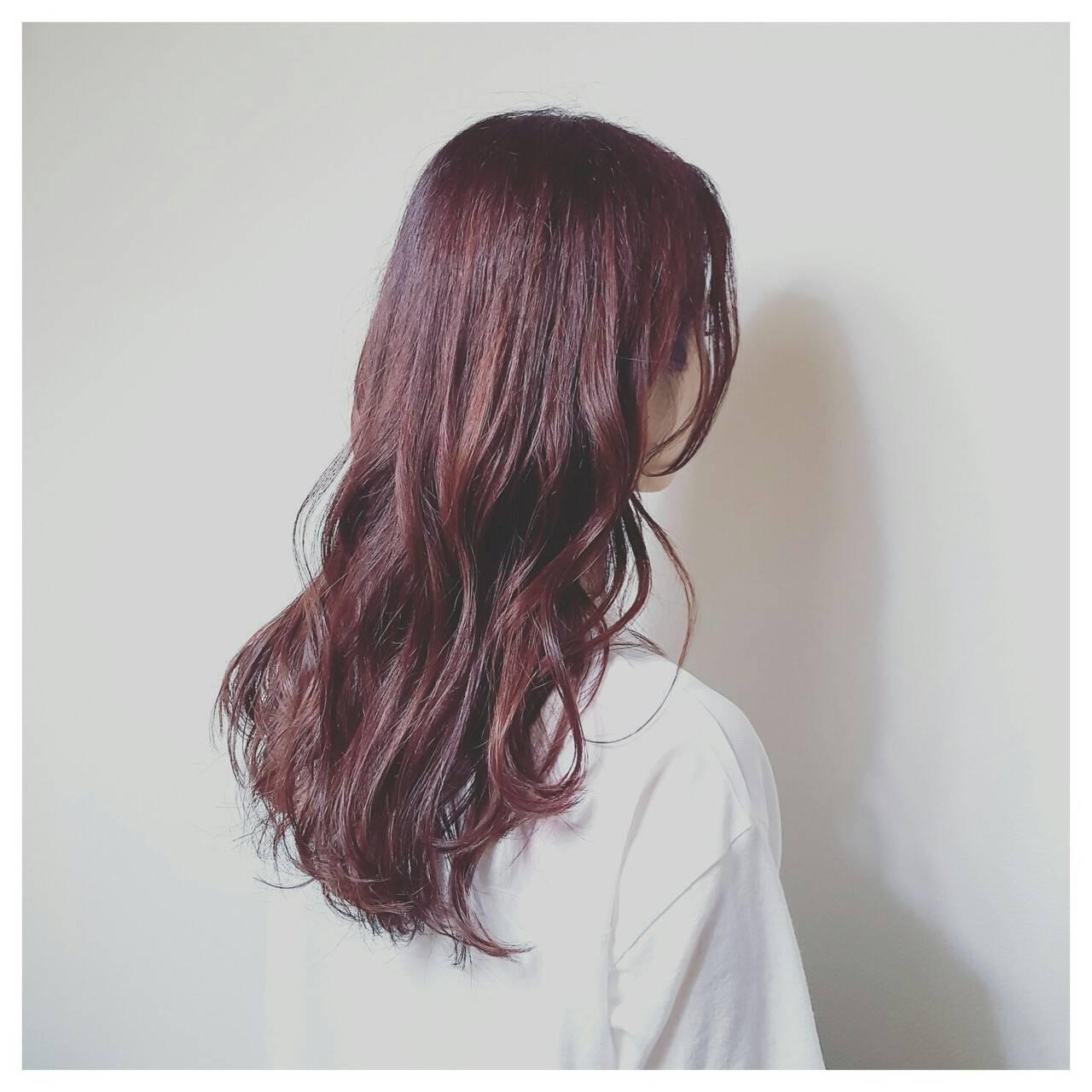 ナチュラル くせ毛風 ロング 秋ヘアスタイルや髪型の写真・画像