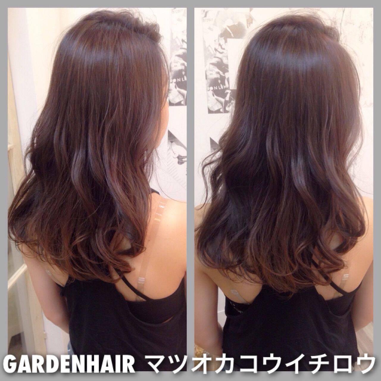 ロング ラベンダーアッシュ 外国人風カラー ラベンダーヘアスタイルや髪型の写真・画像