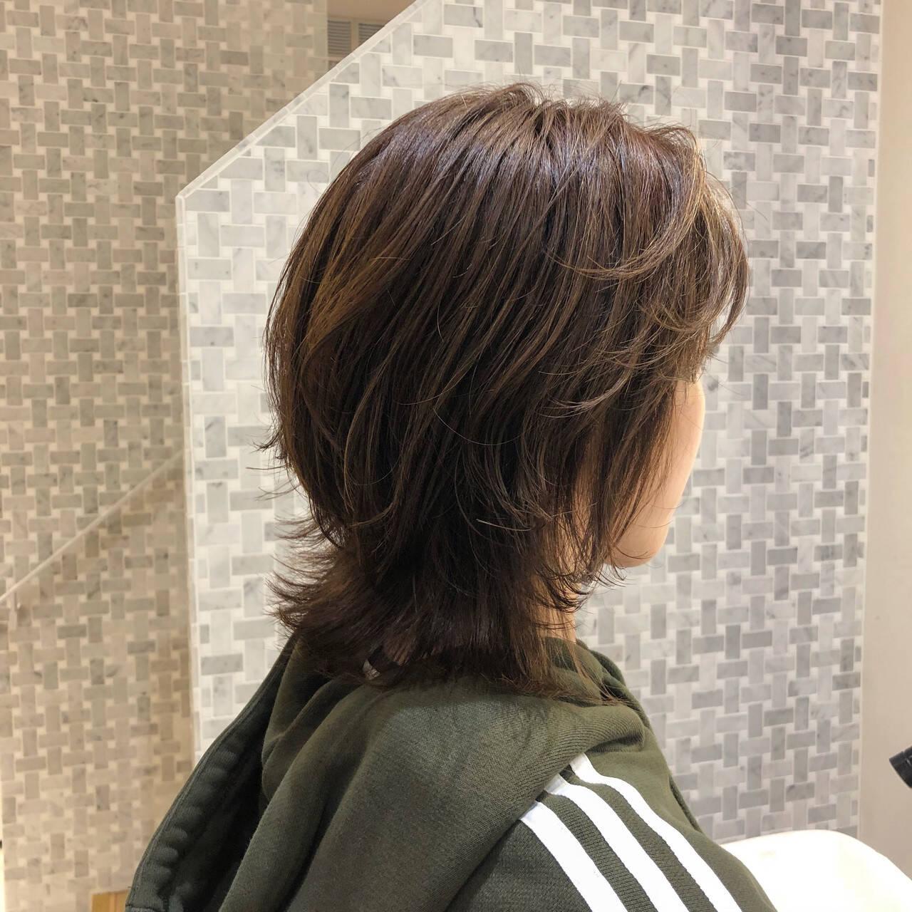 ストリート ウルフ女子 ニュアンスウルフ メンズヘアスタイルや髪型の写真・画像