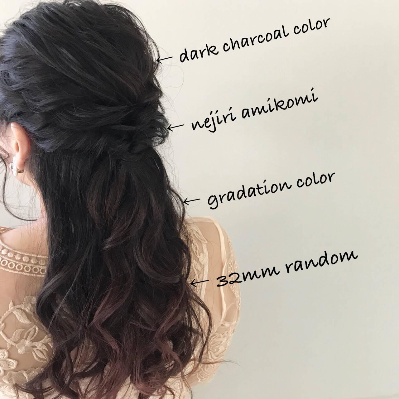 簡単ヘアアレンジ デート ナチュラル ゆるふわヘアスタイルや髪型の写真・画像
