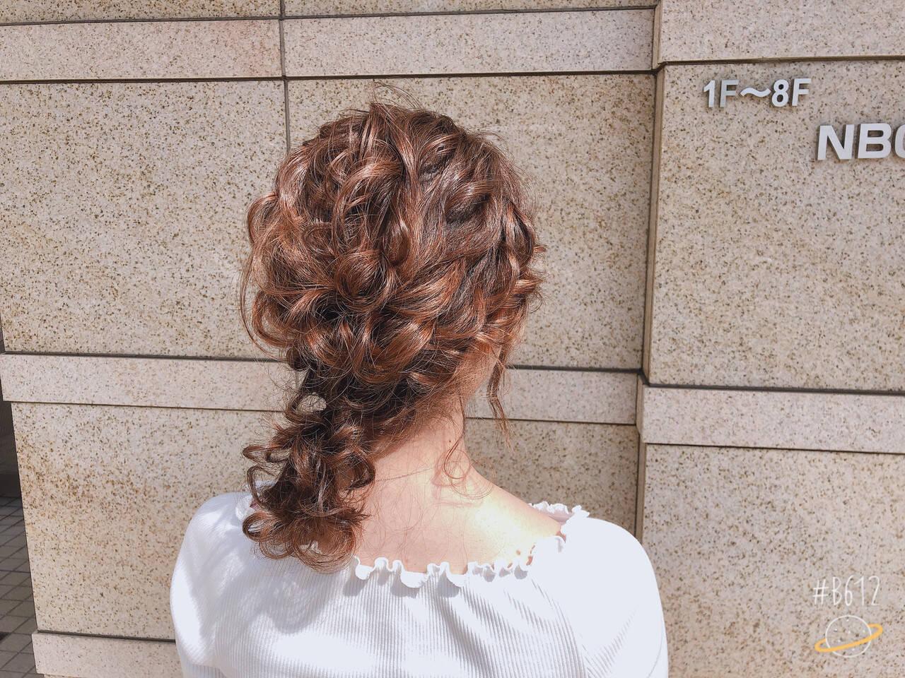 ガーリー 簡単ヘアアレンジ デート アウトドアヘアスタイルや髪型の写真・画像