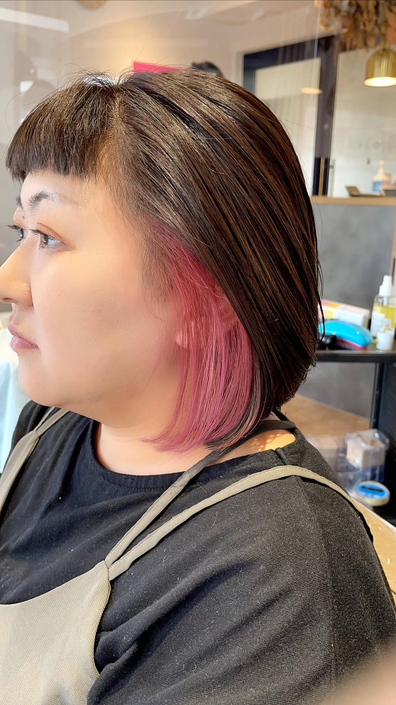 切りっぱなしボブ ショートヘア ショートボブ ナチュラルヘアスタイルや髪型の写真・画像