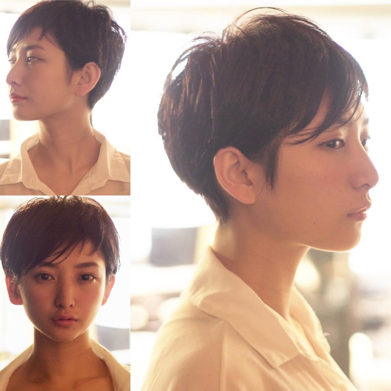 30代 大人ショート モード 小顔ショートヘアスタイルや髪型の写真・画像