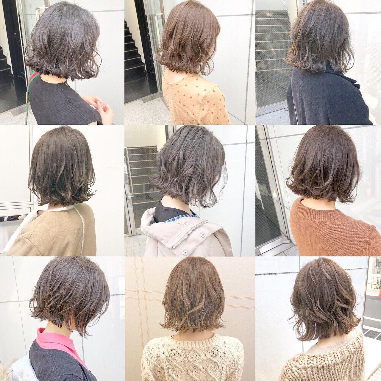 オフィス パーマ デート ナチュラルヘアスタイルや髪型の写真・画像