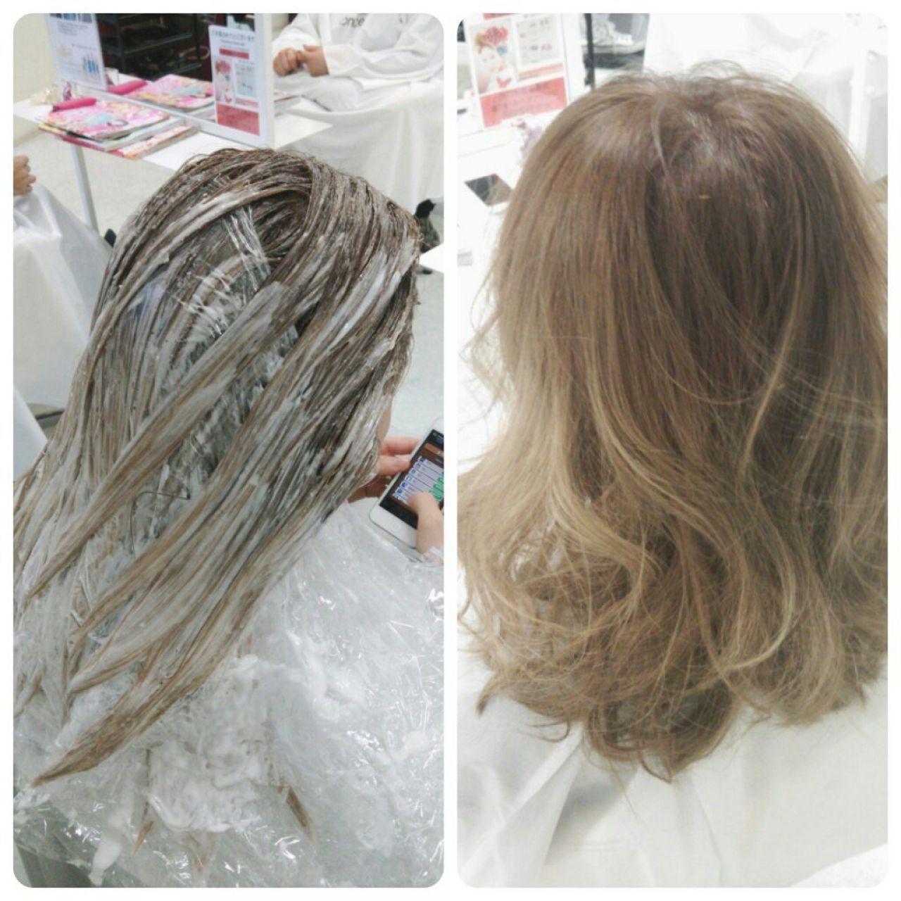外国人風 アッシュ グラデーションカラー ブラウンベージュヘアスタイルや髪型の写真・画像