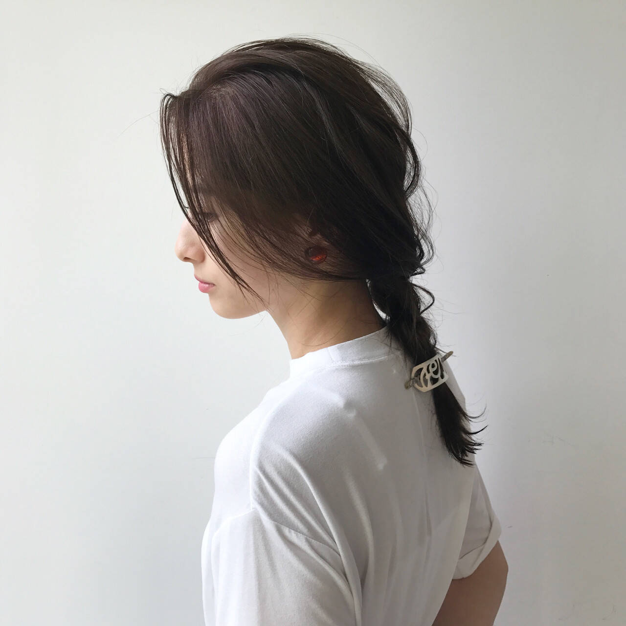 結婚式 秋 透明感 涼しげヘアスタイルや髪型の写真・画像