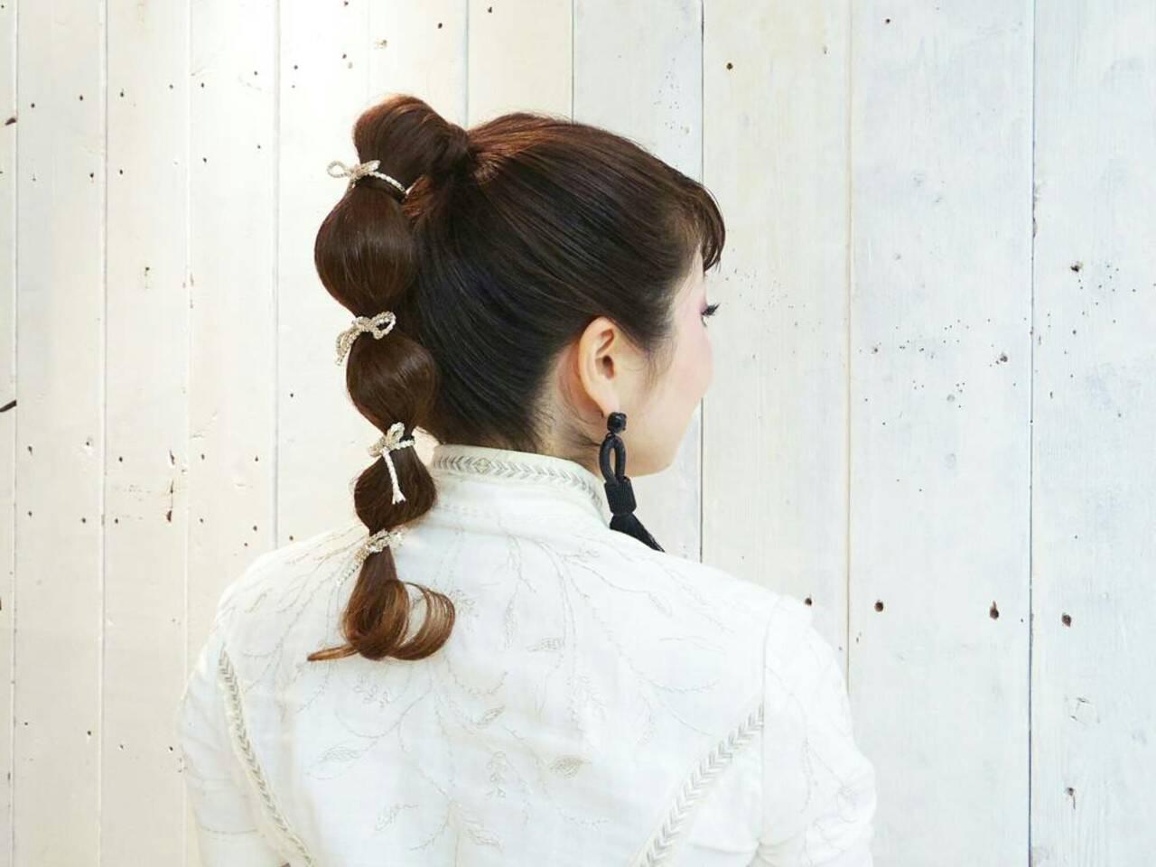 個性的 ヘアアレンジ 結婚式 ストリートヘアスタイルや髪型の写真・画像
