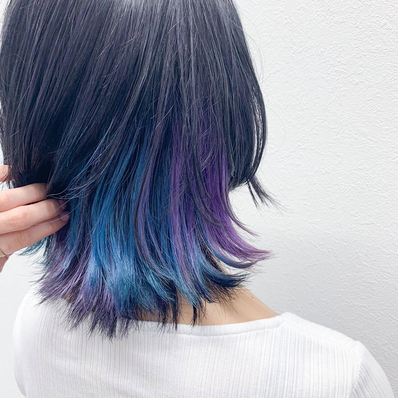 ホワイトブリーチ ミディアム ブリーチオンカラー モードヘアスタイルや髪型の写真・画像
