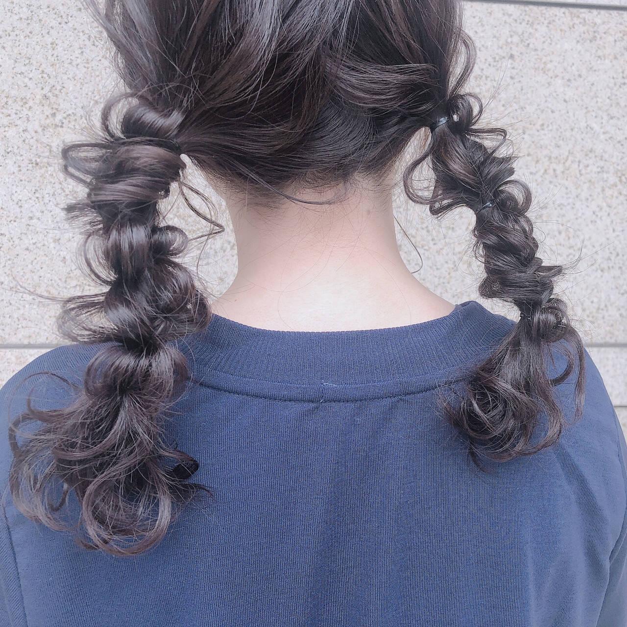 ガーリー オフィス セミロング ヘアアレンジヘアスタイルや髪型の写真・画像