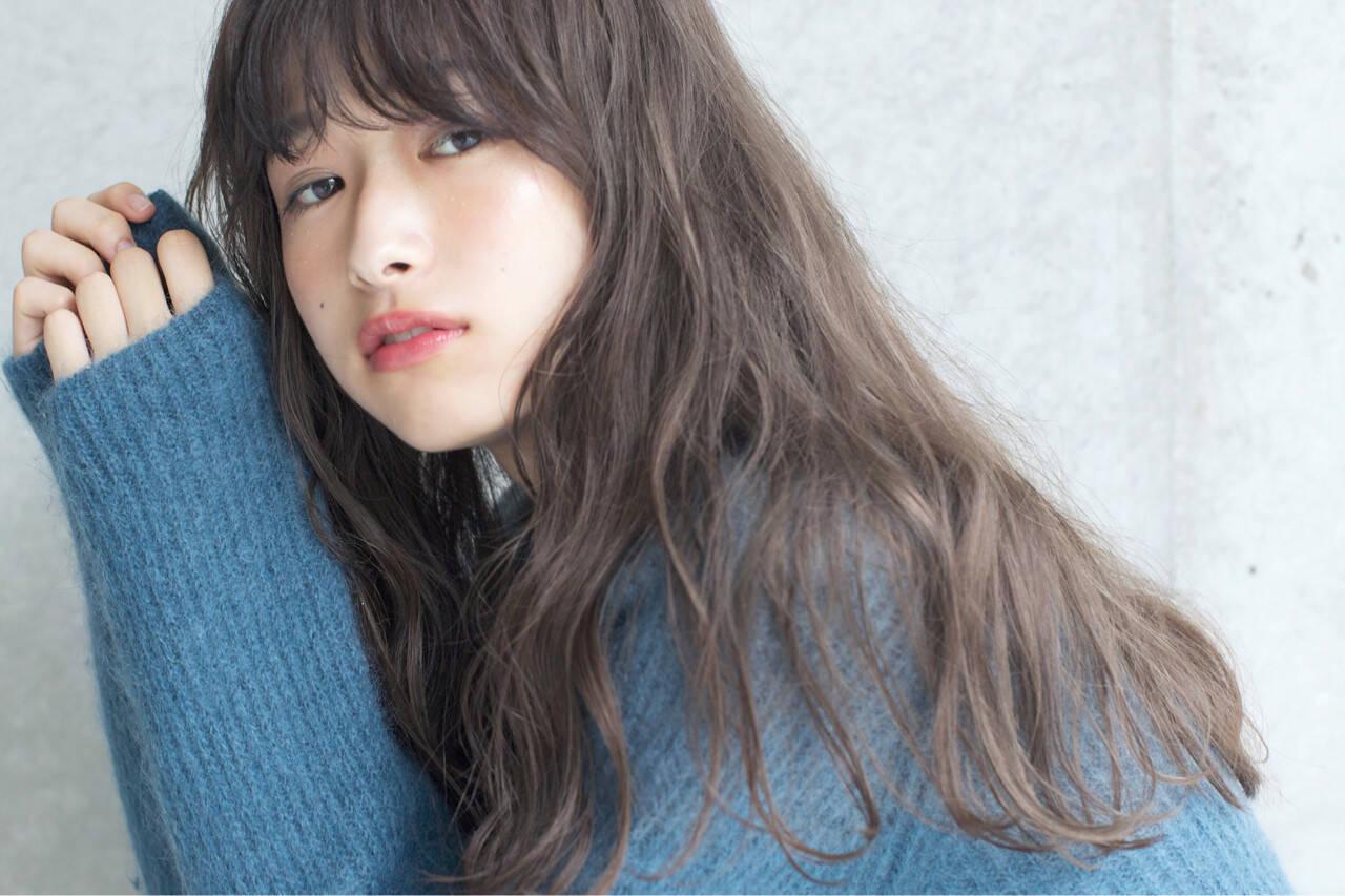 ロング 外国人風カラー アンニュイ 透明感ヘアスタイルや髪型の写真・画像