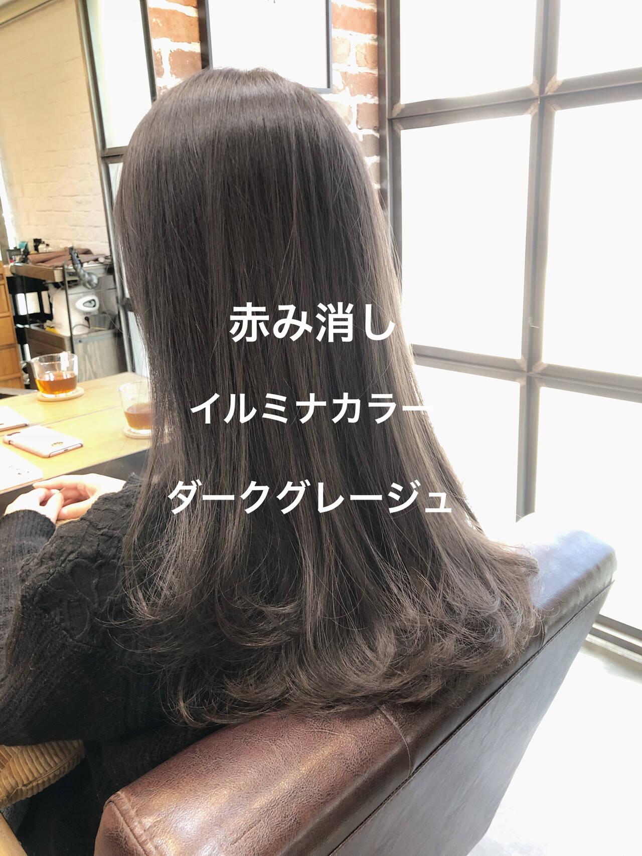 ラベンダーアッシュ イルミナカラー グレージュ ナチュラルヘアスタイルや髪型の写真・画像